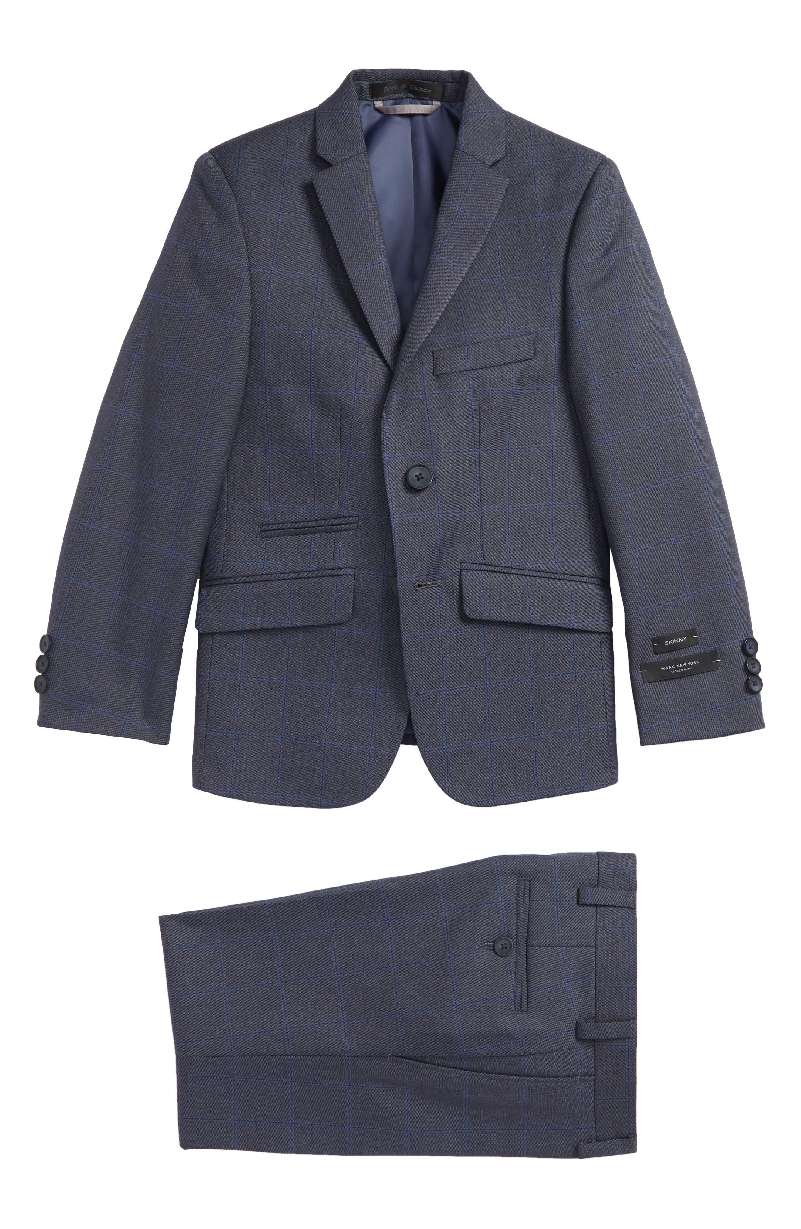 Andrew Marc Blue Window Two-Piece Suit (Big Boys)