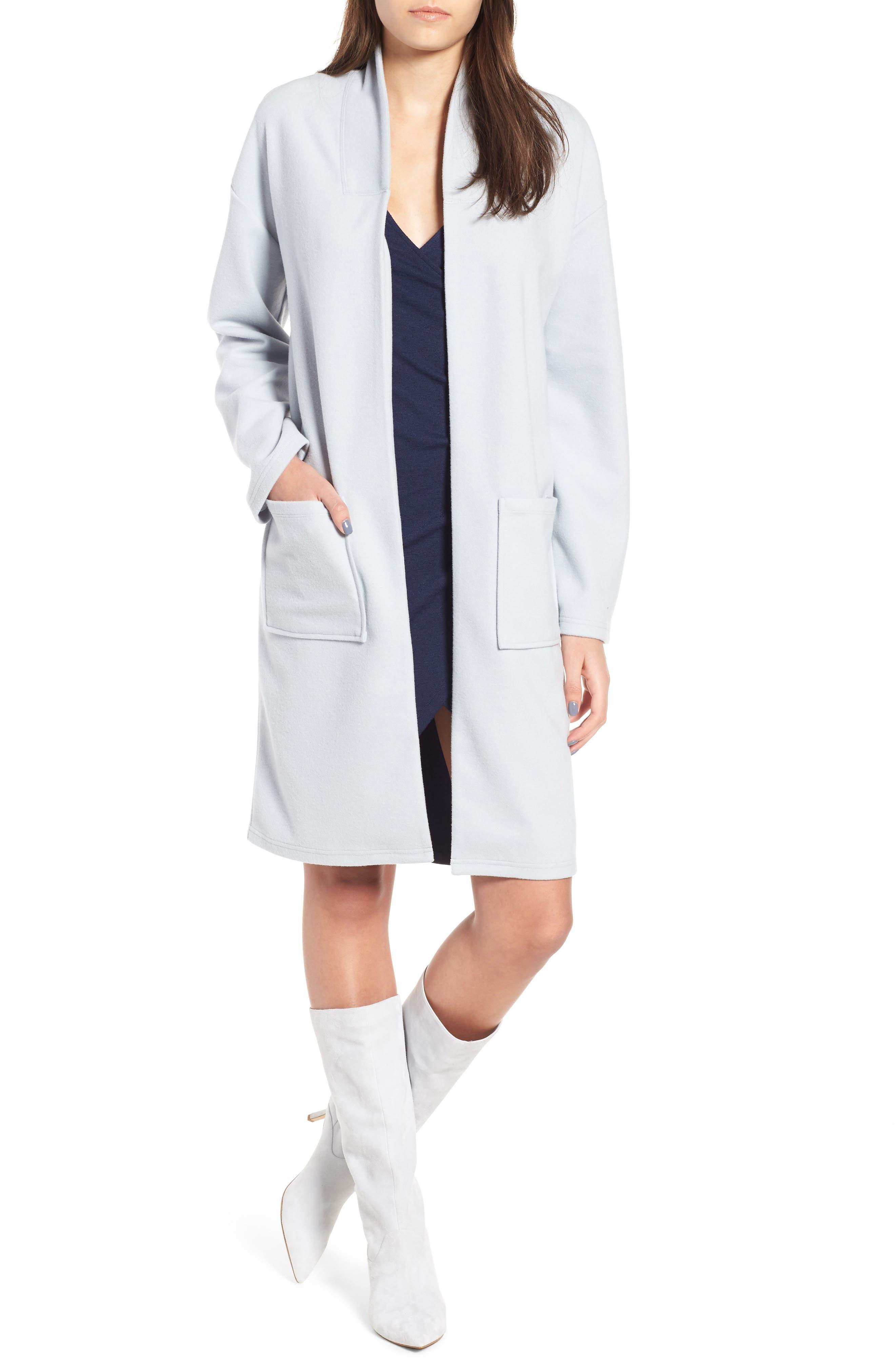 Midi Coat,                         Main,                         color, Blue Pearl