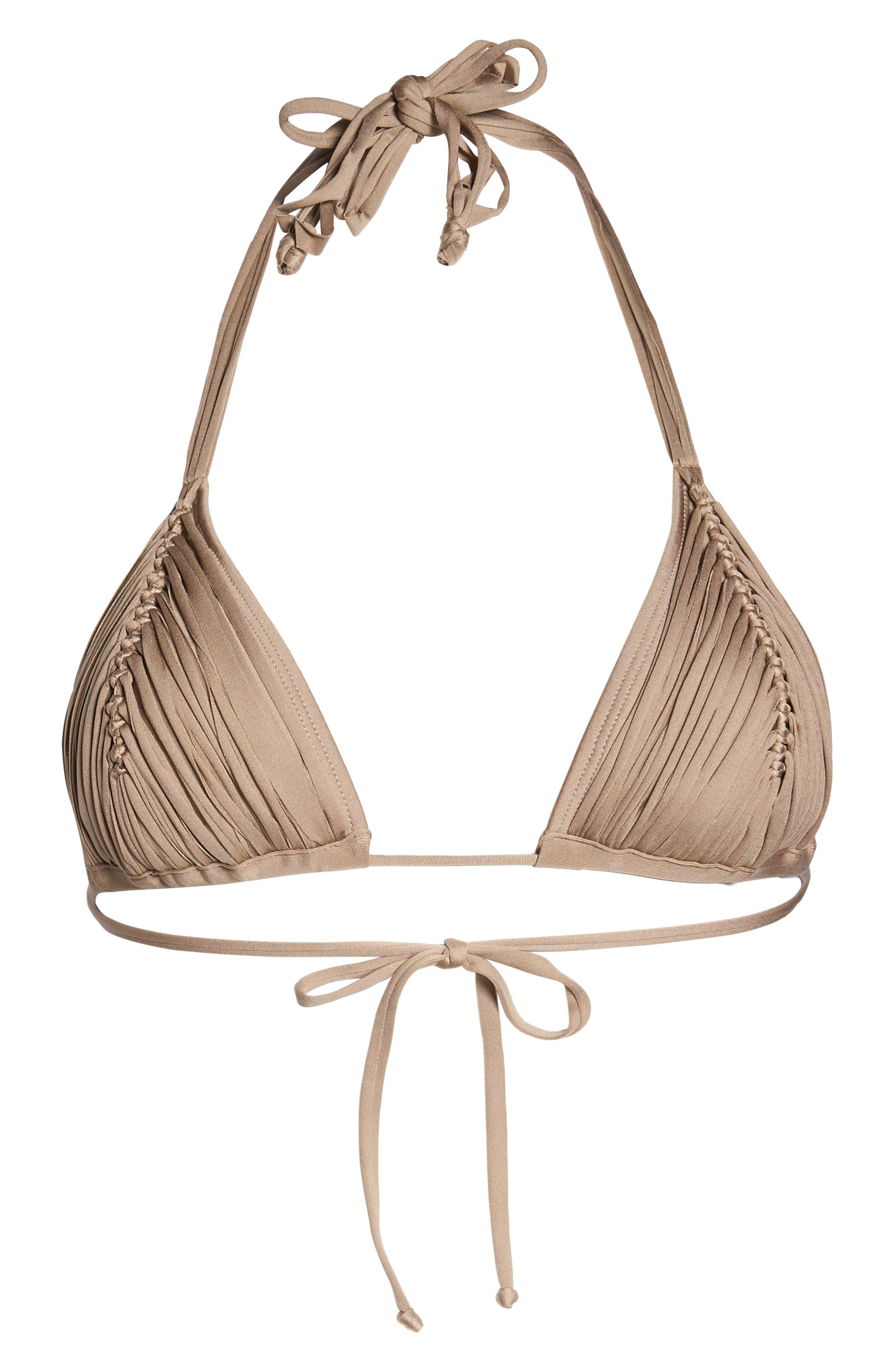 Isla Triangle Bikini Top,                             Alternate thumbnail 9, color,                             Sandstone