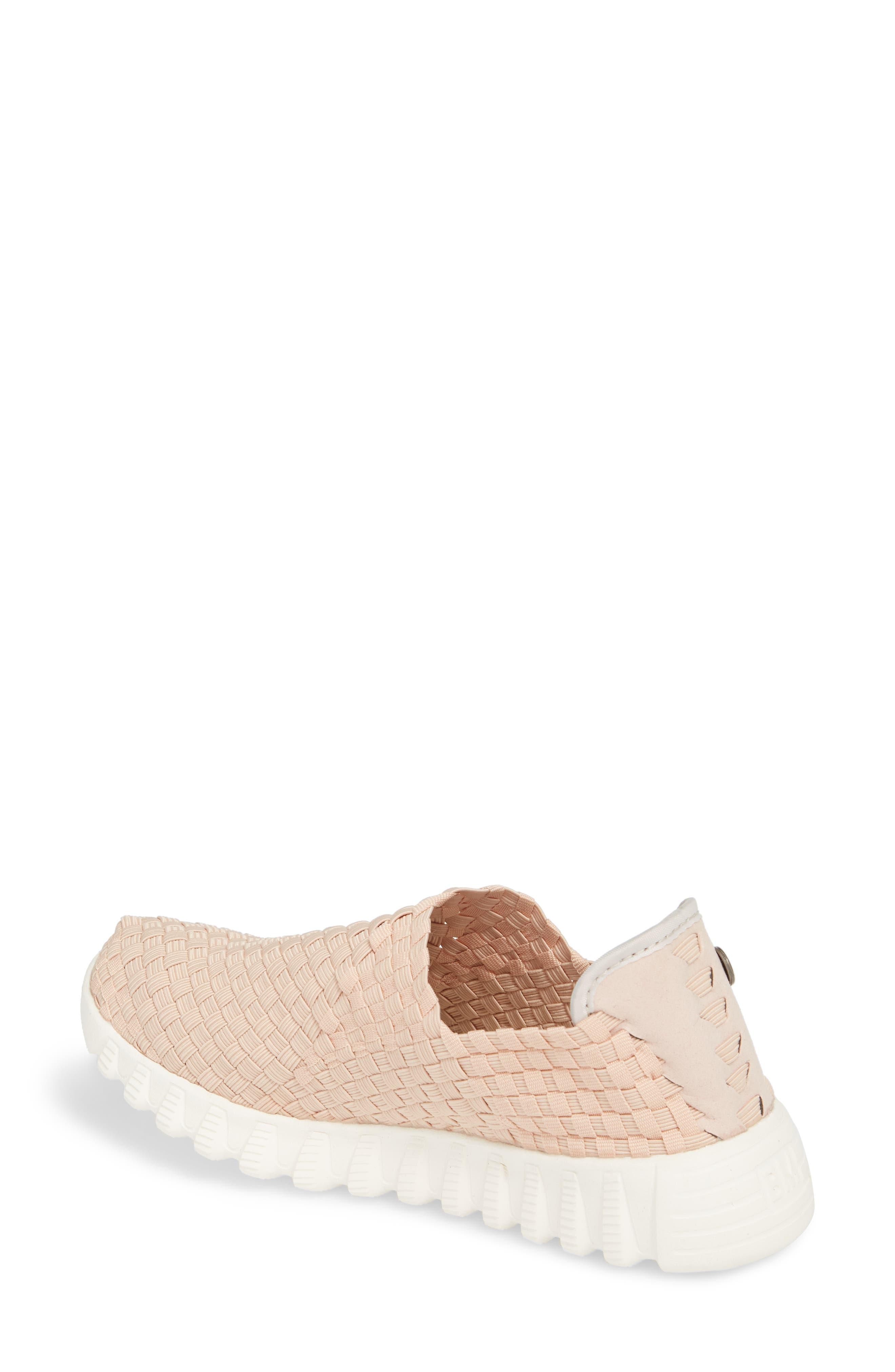 Woven Slip-On Sneaker,                             Alternate thumbnail 2, color,                             Blush Fabric