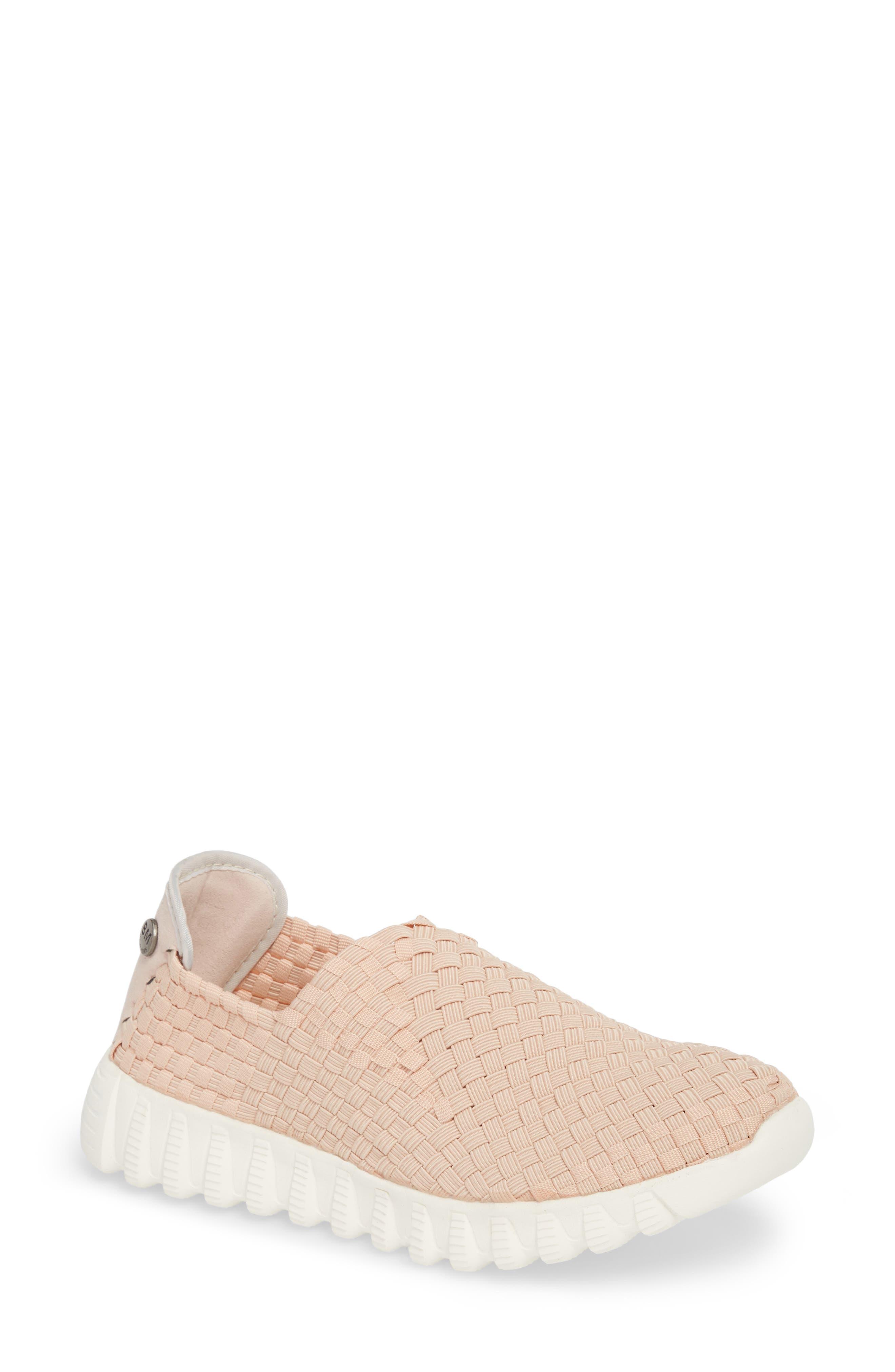 Woven Slip-On Sneaker,                             Main thumbnail 1, color,                             Blush Fabric