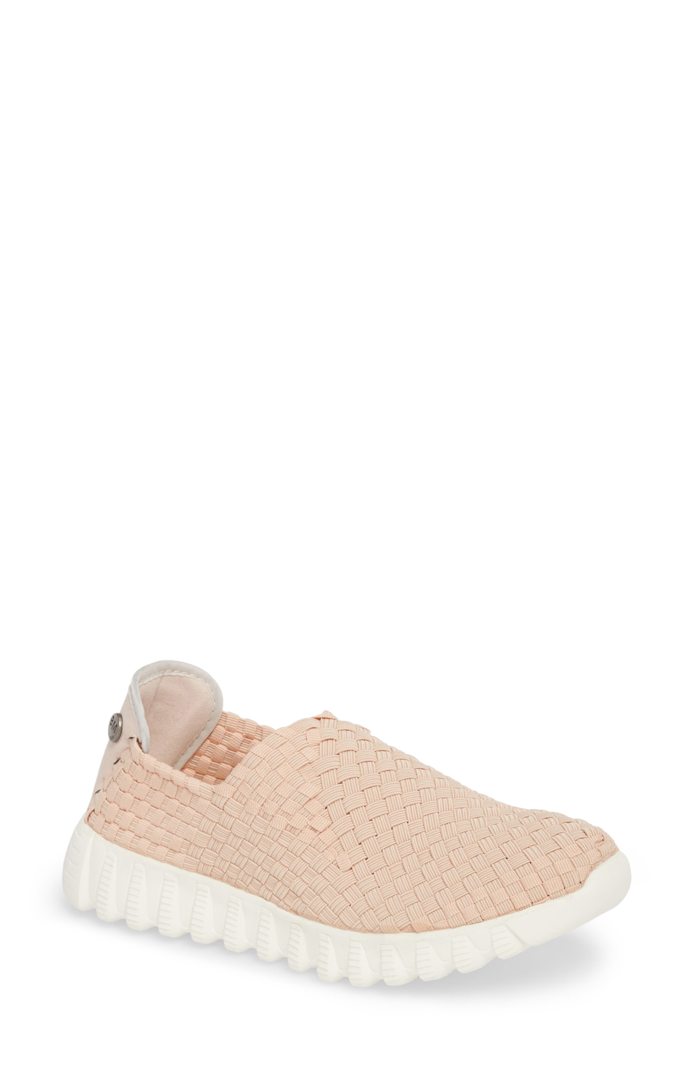 Woven Slip-On Sneaker,                         Main,                         color, Blush Fabric