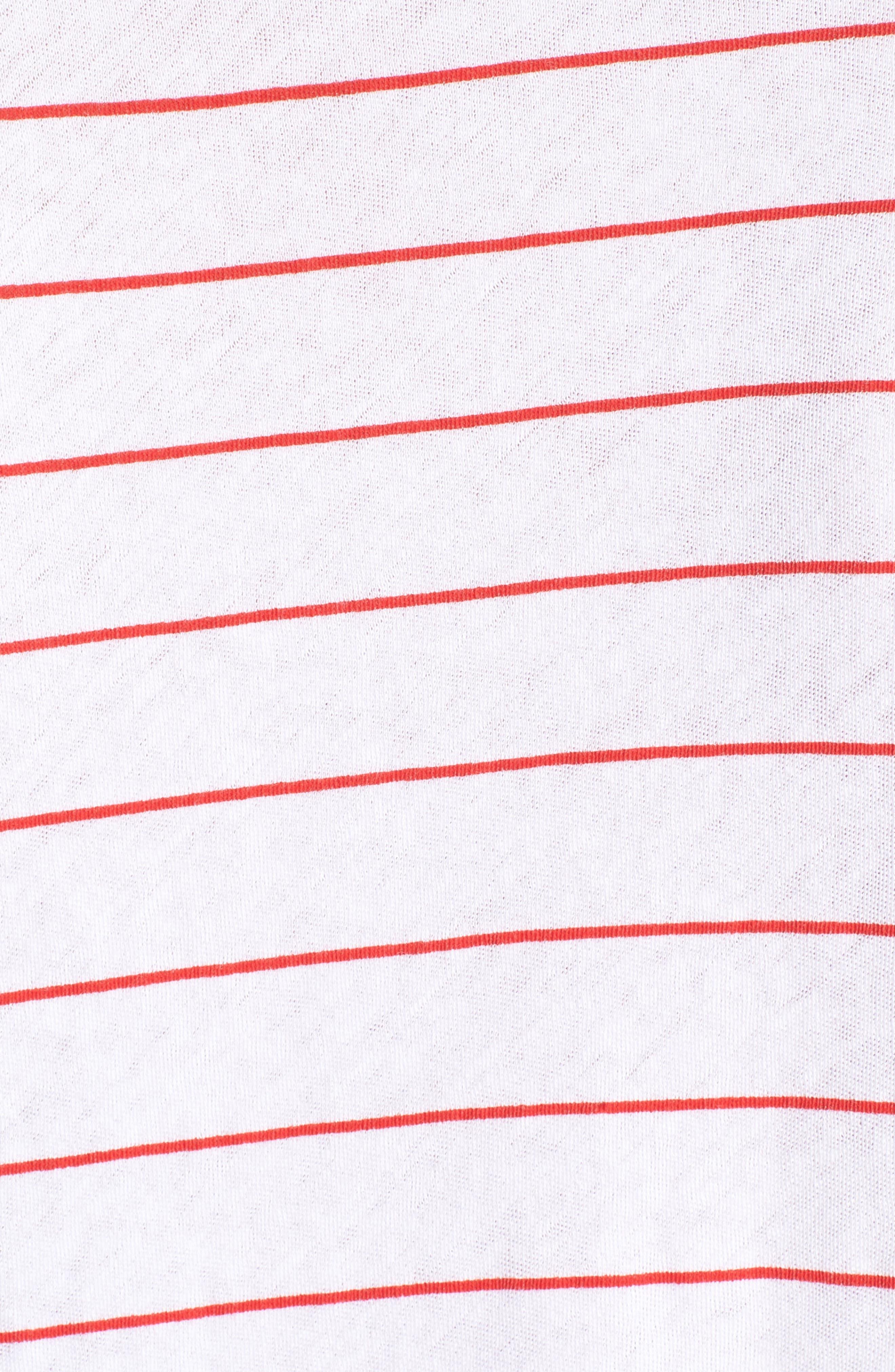 Simple Stripe Tee,                             Alternate thumbnail 6, color,                             Clean White