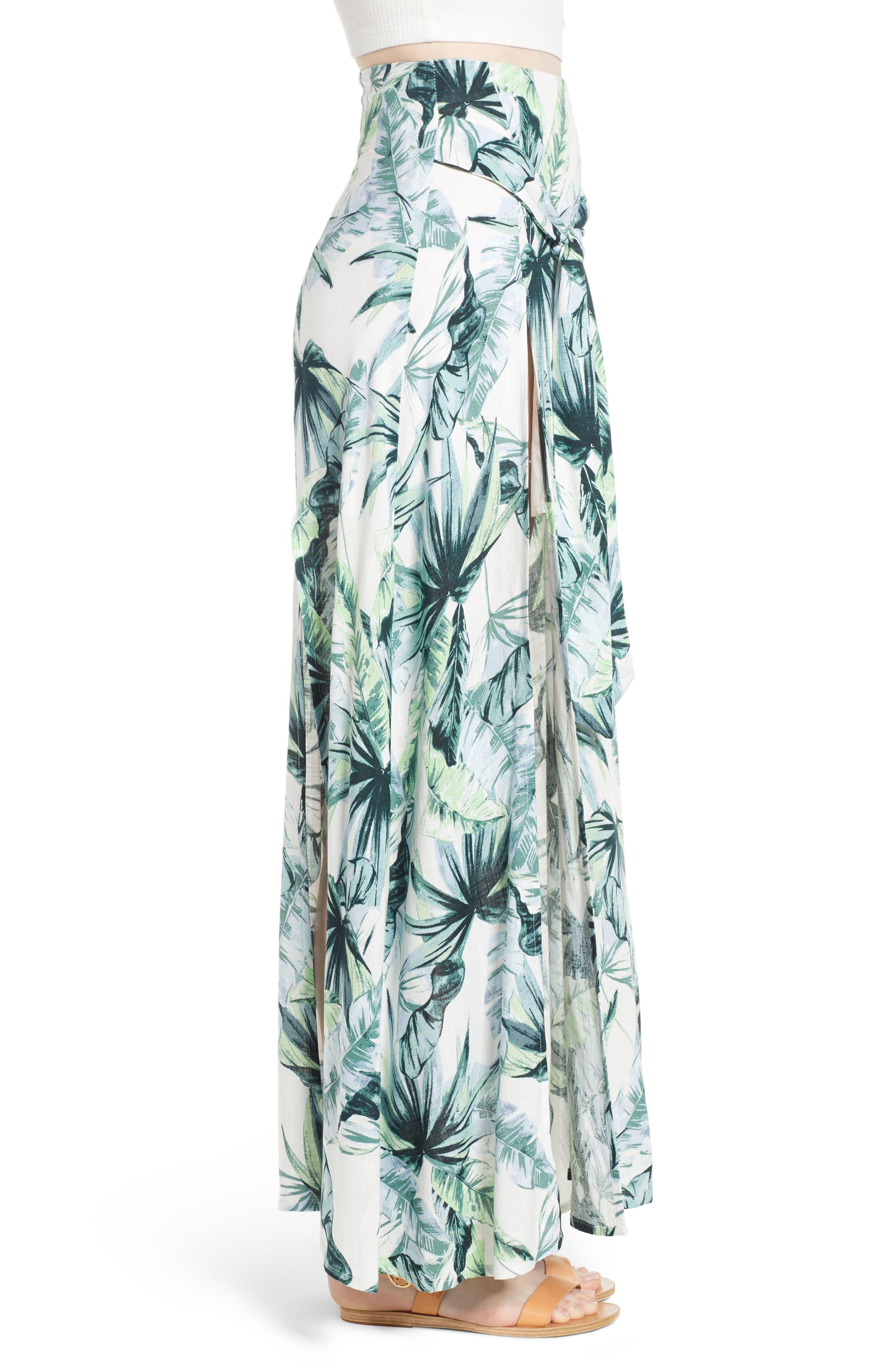 Palm Fringe Skirt,                             Alternate thumbnail 4, color,                             Multi