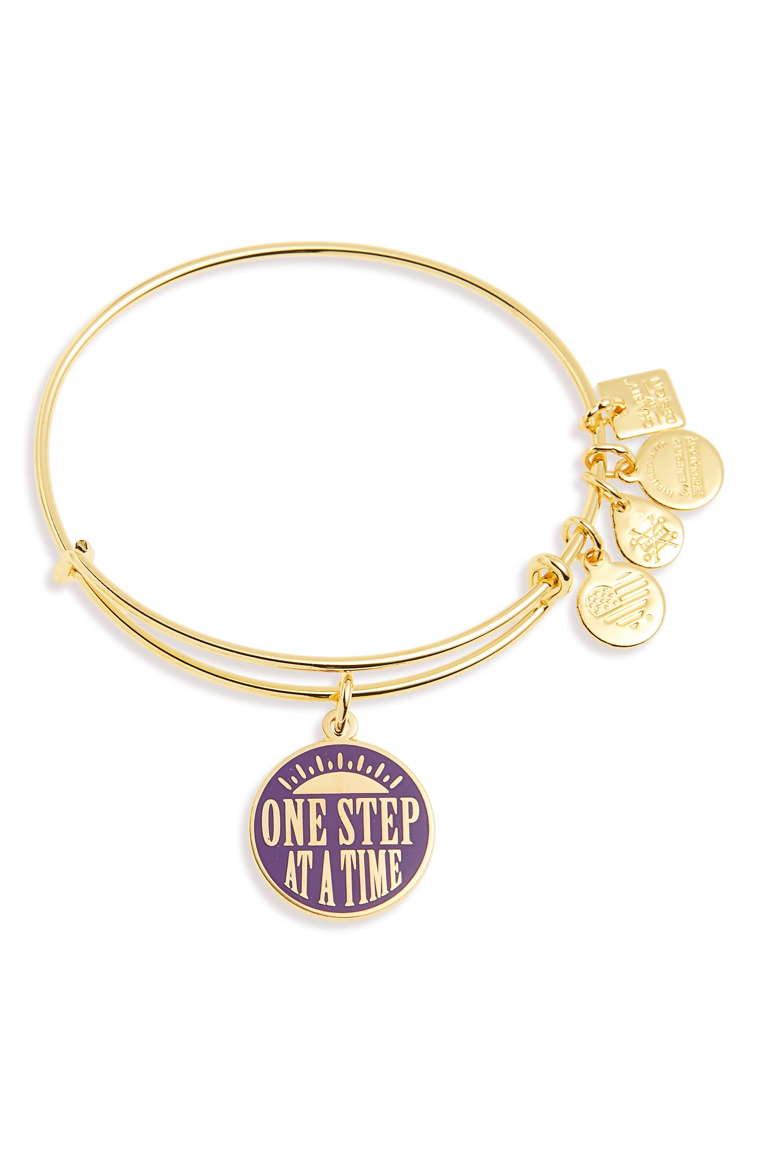Kindred One Step at a Time Bangle,                             Main thumbnail 1, color,                             Gold