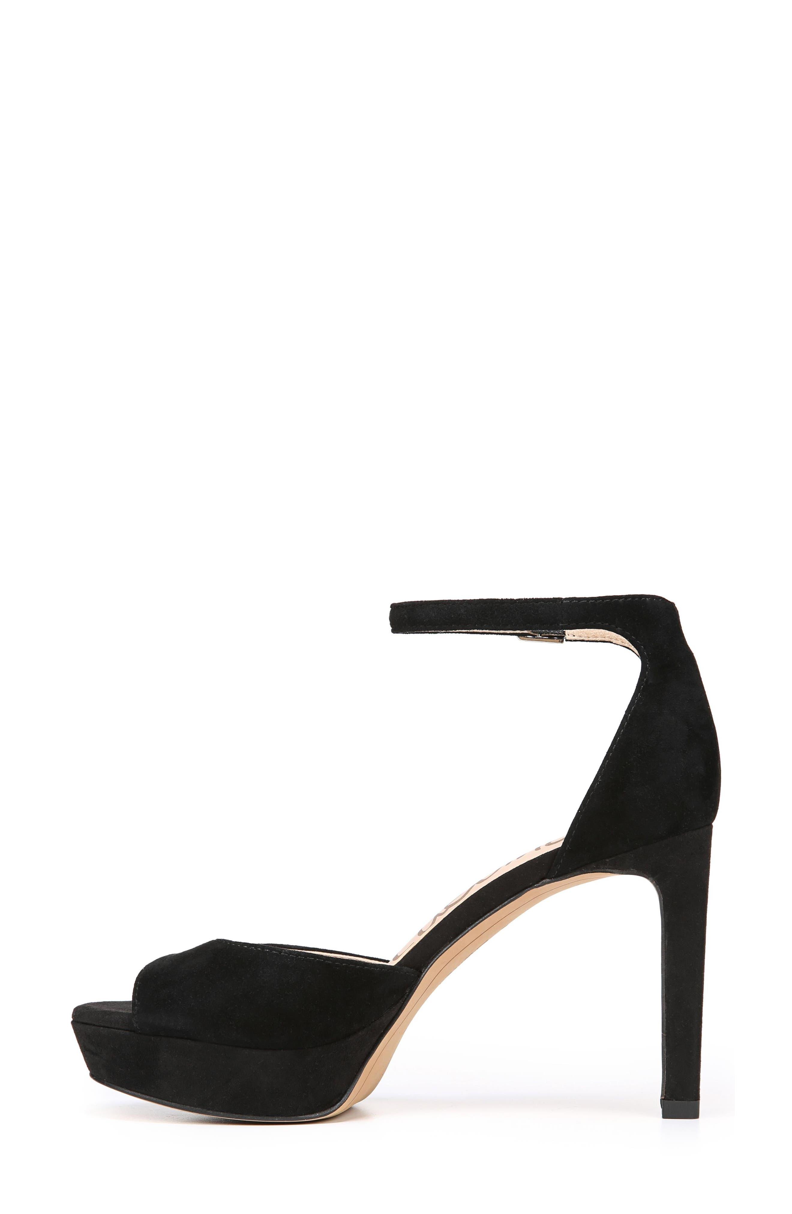 Jerin Platform Sandal,                             Alternate thumbnail 3, color,                             Black Suede