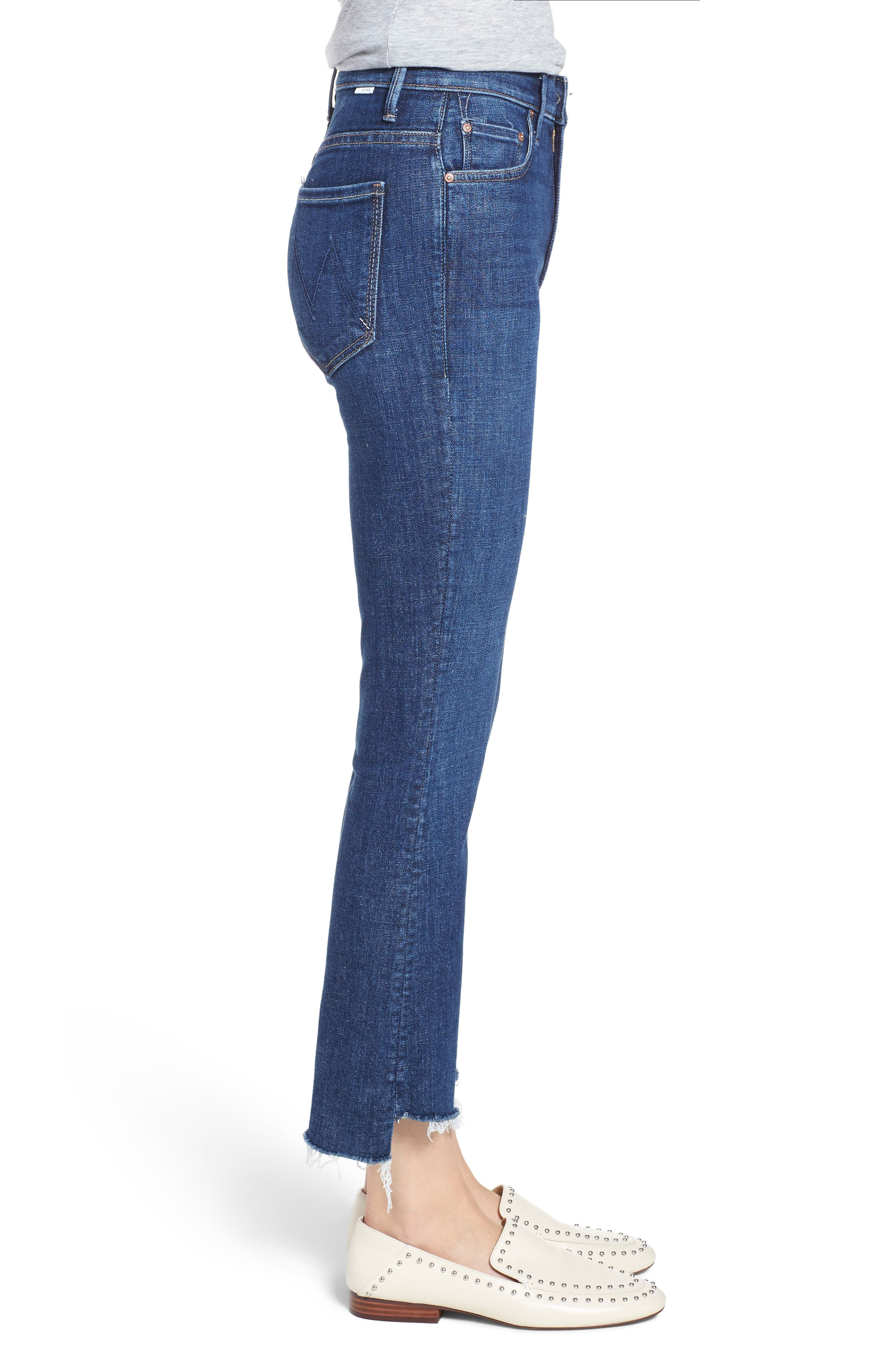 'The Insider' Crop Step Fray Jeans,                             Alternate thumbnail 3, color,                             Crushing It