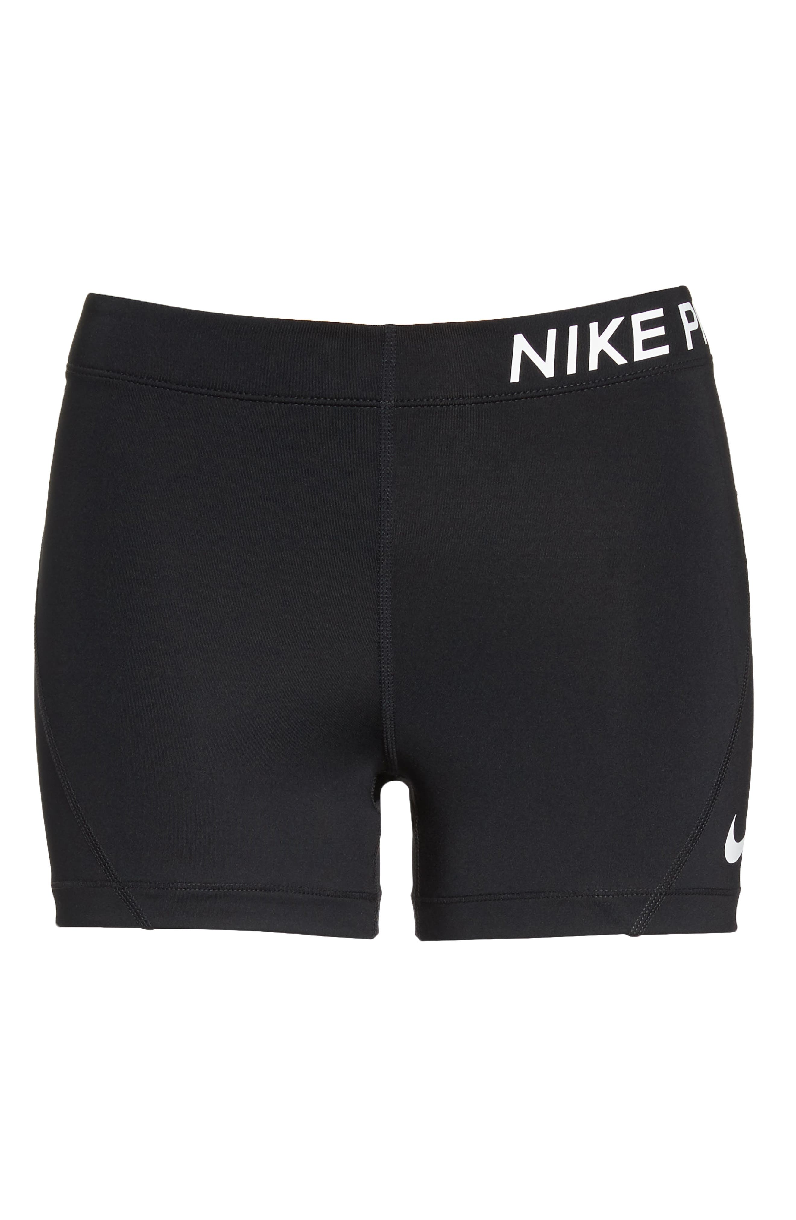 Pro Short Shorts,                             Alternate thumbnail 7, color,                             Black/ White