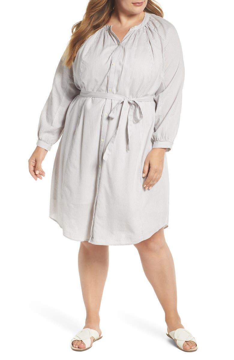 Stripe Peasant Dress
