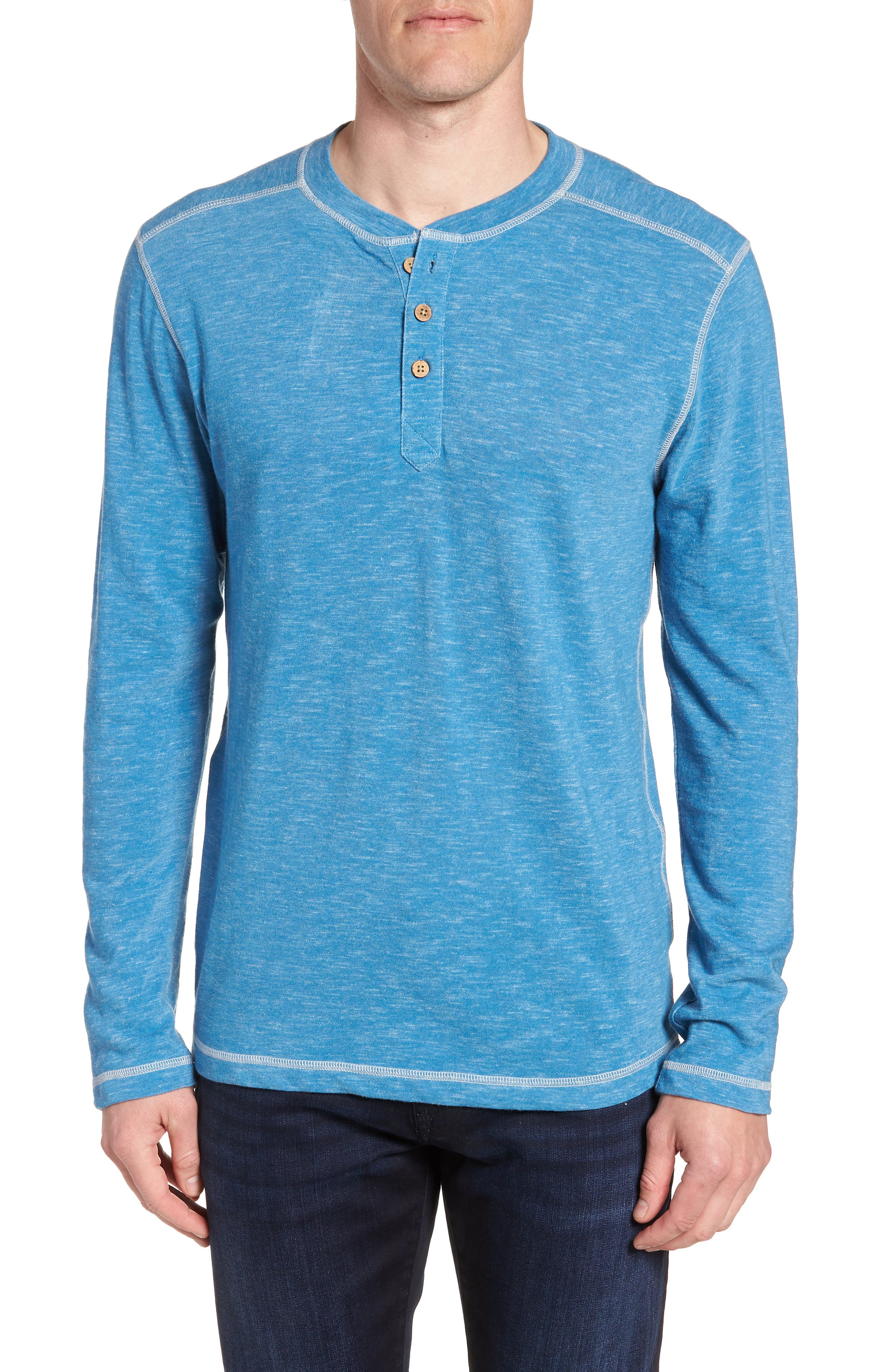 VINTAGE 1946 SPACE DYED LONG SLEEVE HENLEY