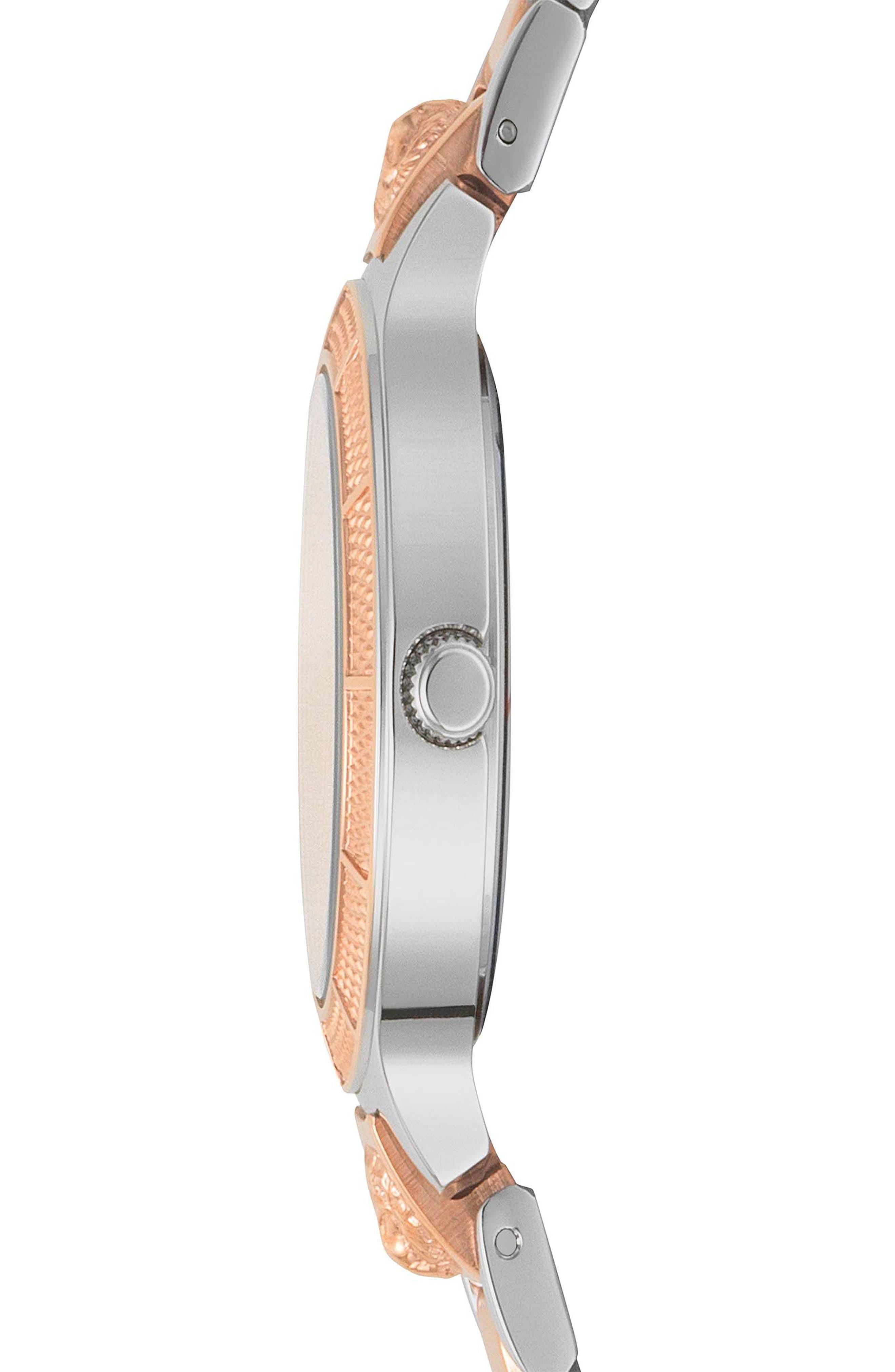 VERSUS by Versace Claremont Bracelet Watch, 32mm,                             Alternate thumbnail 2, color,                             Silver/ Rose Gold