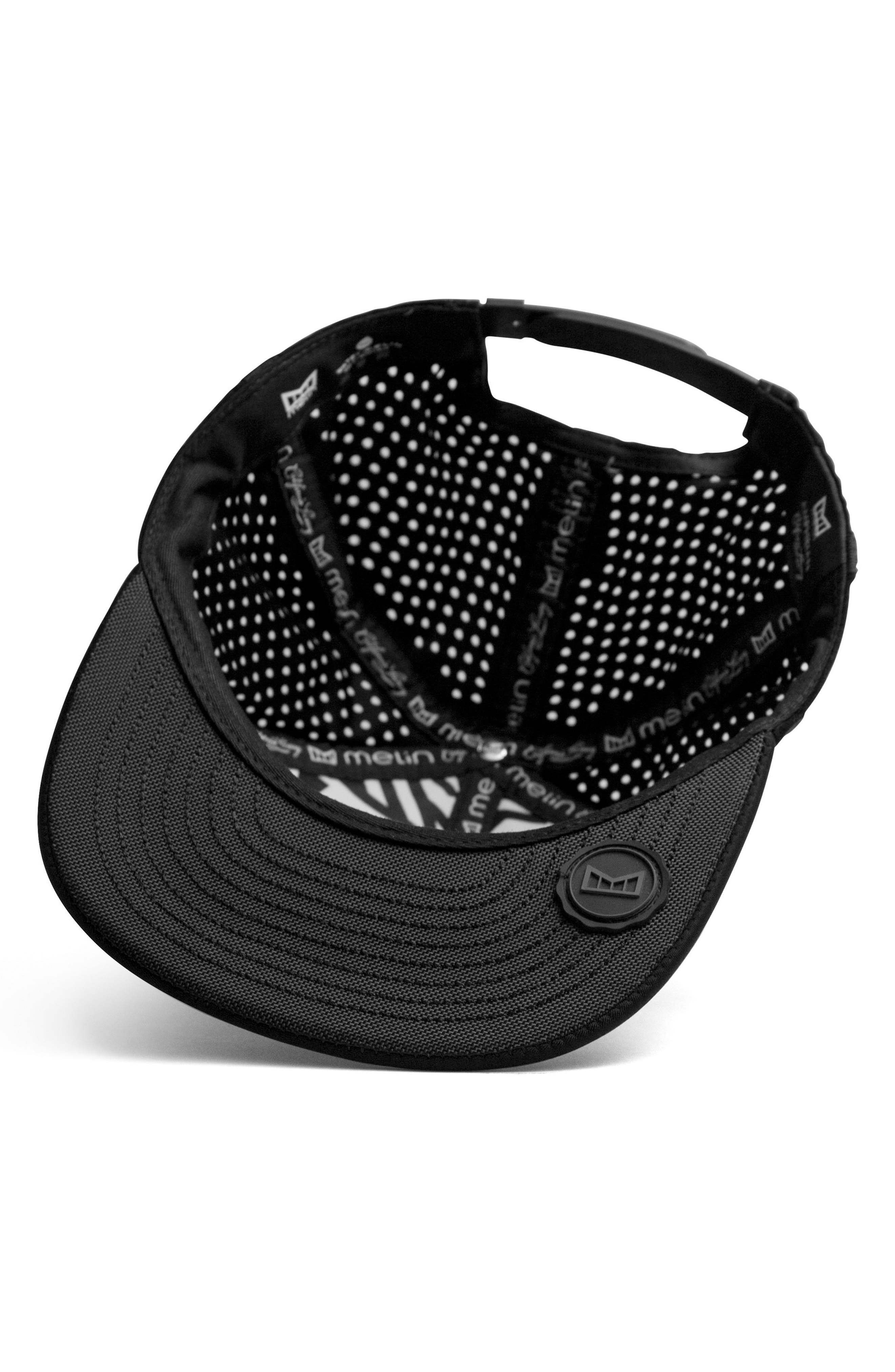 'Amphibian' Split Fit Snapback Baseball Cap,                             Alternate thumbnail 2, color,                             Black/ Black