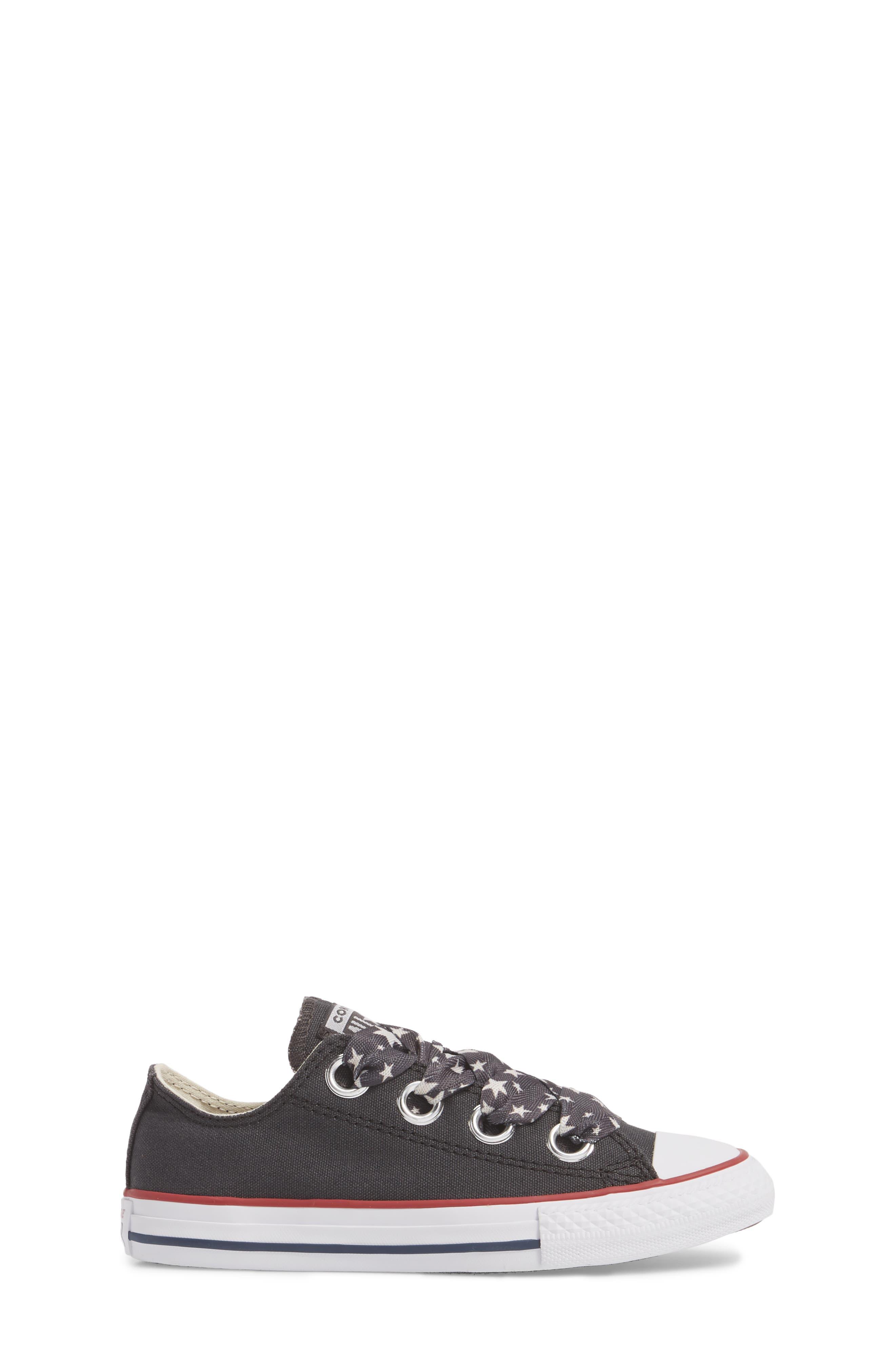 Big Eyelet Lace-Up Sneaker,                             Alternate thumbnail 3, color,                             Black