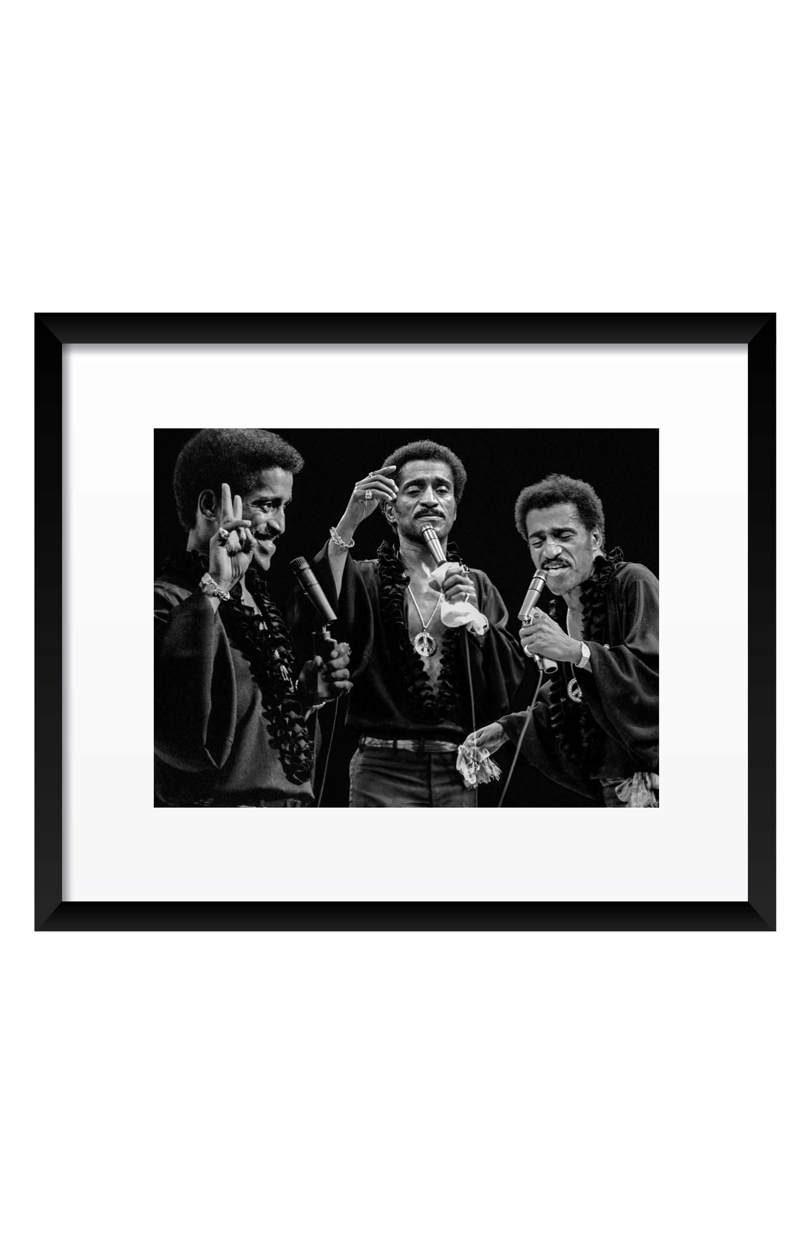 Sammy Davis Jr. Fine Art Print,                             Main thumbnail 1, color,                             Black