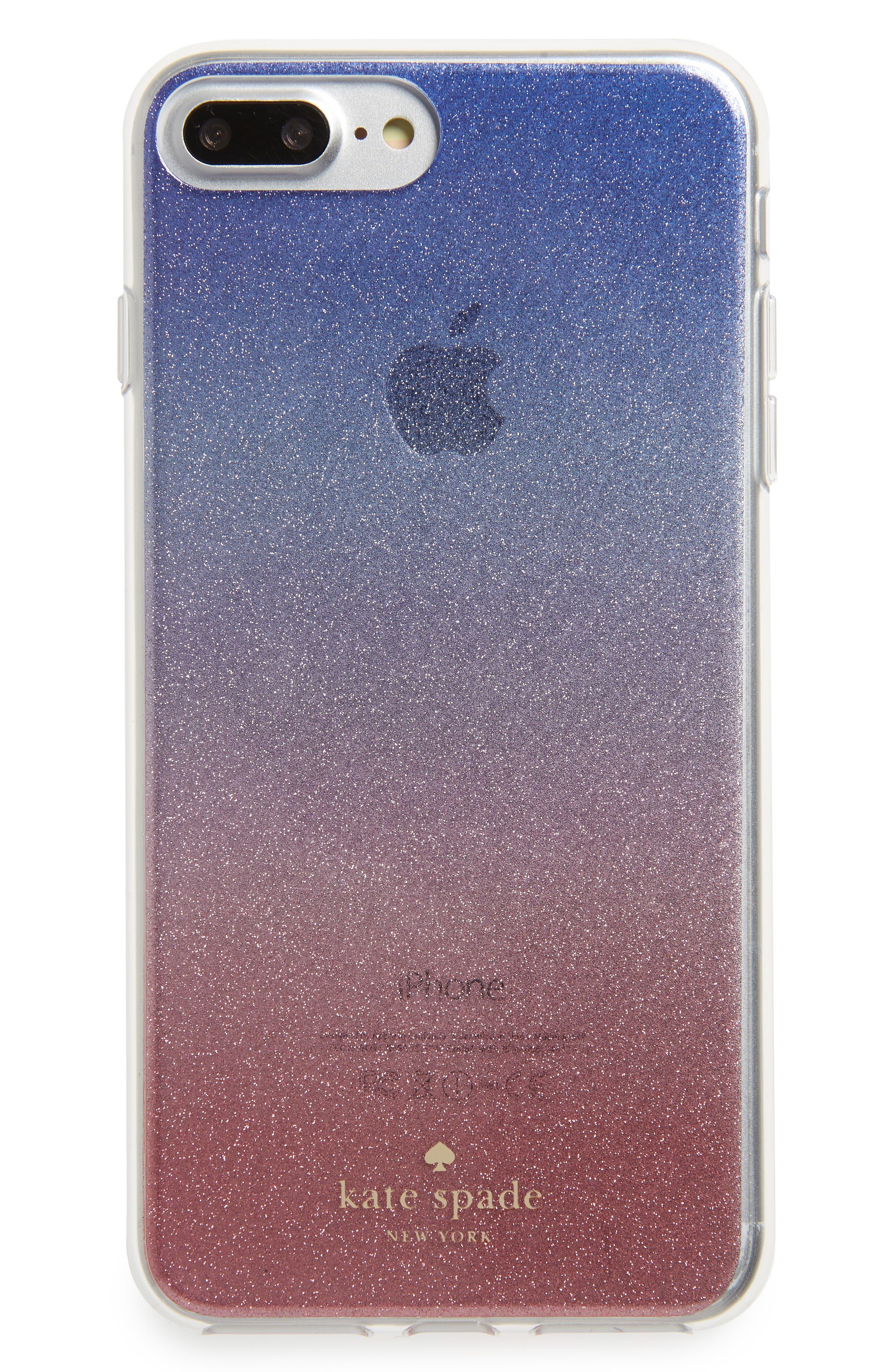 ombré sunset glitter iPhone 7/8 & 7/8 Plus case,                         Main,                         color, Pink Multi