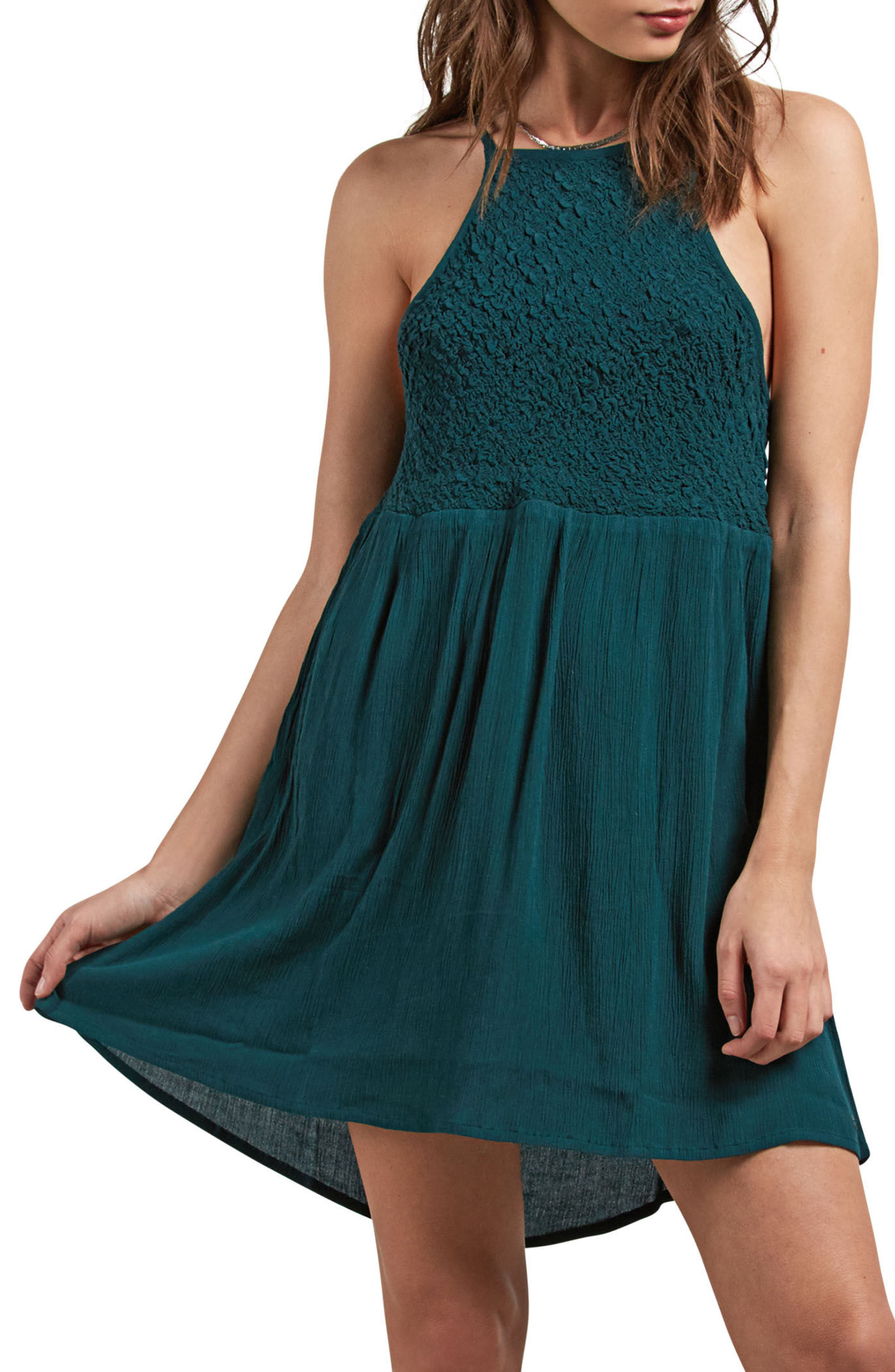 Haute Stone Cover-Up Dress,                             Main thumbnail 1, color,                             Evergreen