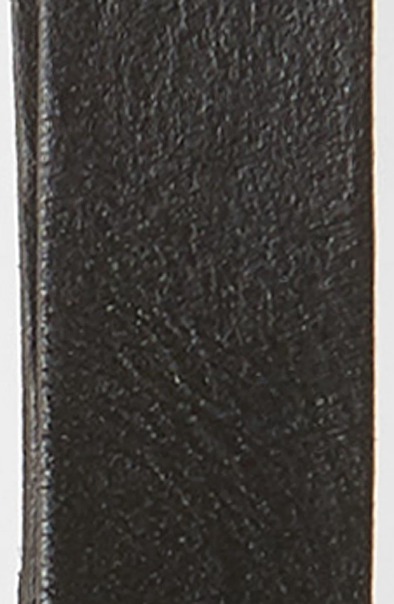 Metal Tipped Studded Skinny Belt,                             Alternate thumbnail 3, color,                             Black