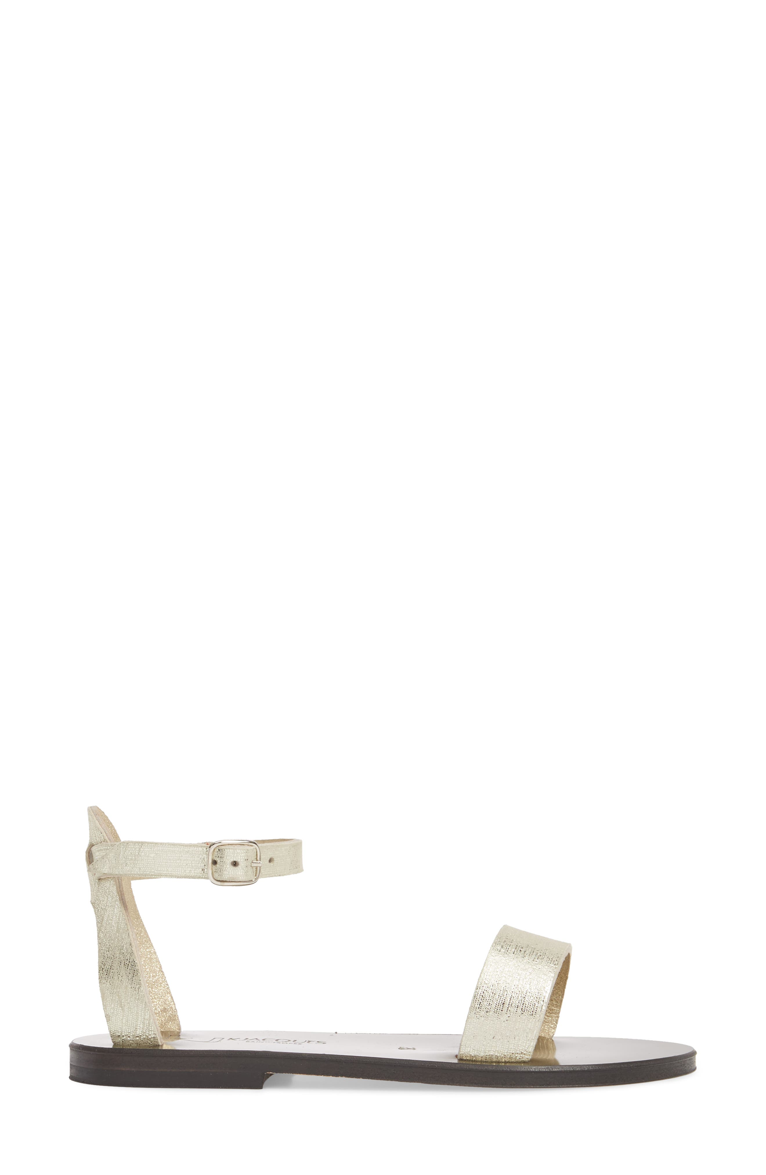 Pampa Sandal,                             Alternate thumbnail 3, color,                             Blonde / Platine Leather