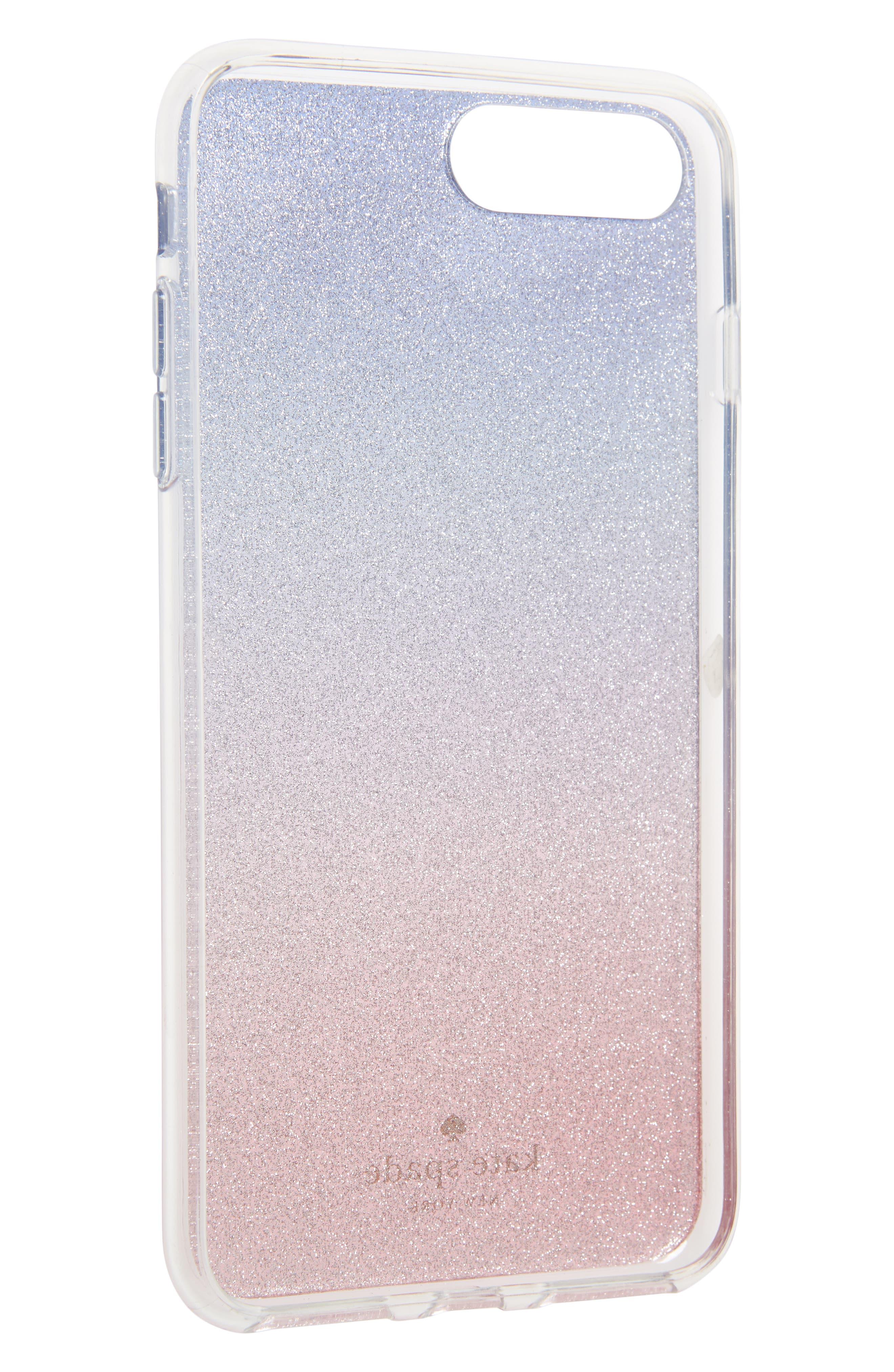 ombré sunset glitter iPhone 7/8 & 7/8 Plus case,                             Alternate thumbnail 2, color,                             Pink Multi