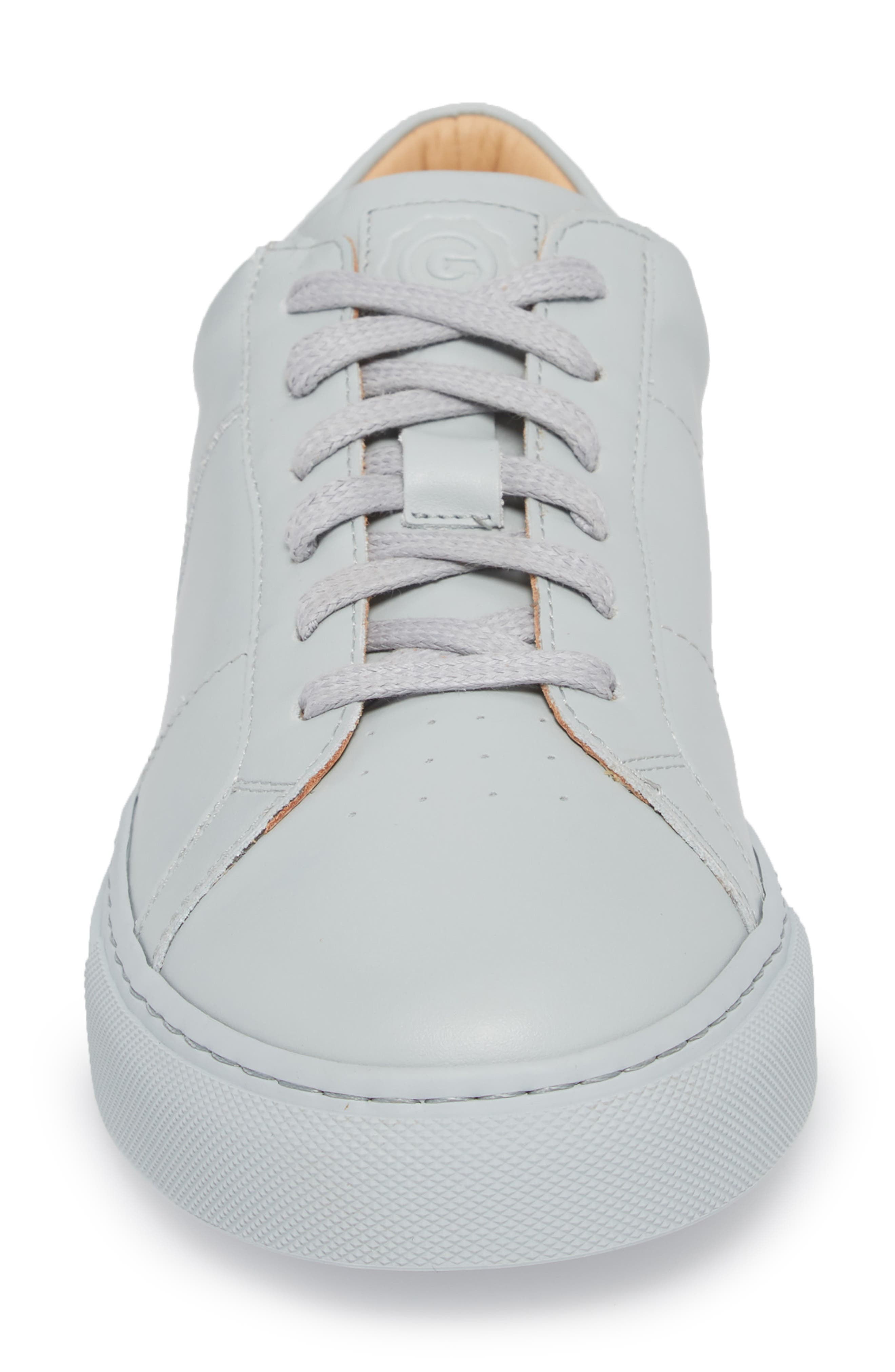 Royale Sneaker,                             Alternate thumbnail 4, color,                             Grey Tonal Leather
