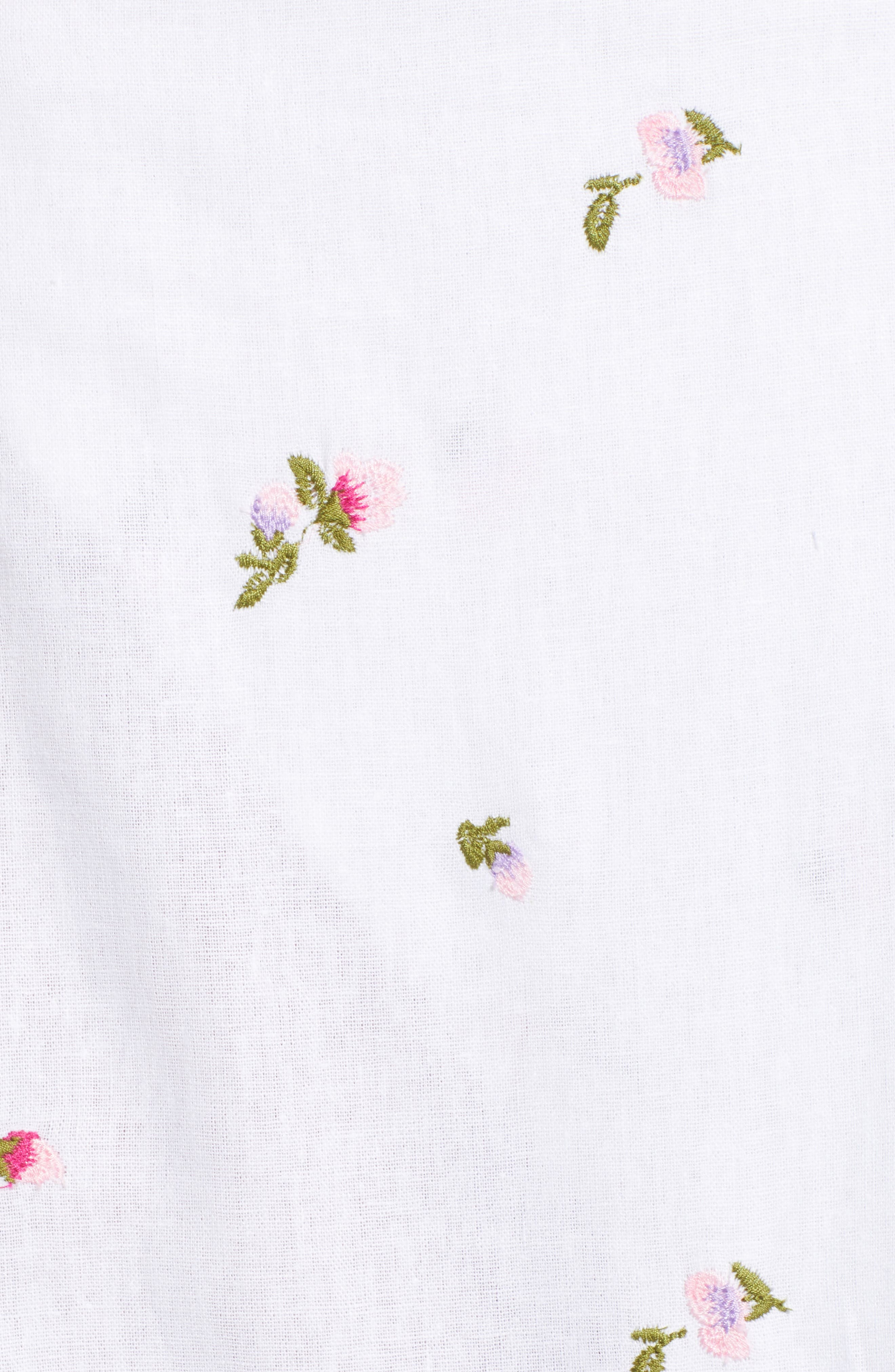 Sunset Midi Skirt,                             Alternate thumbnail 5, color,                             Ditsy Embroidery