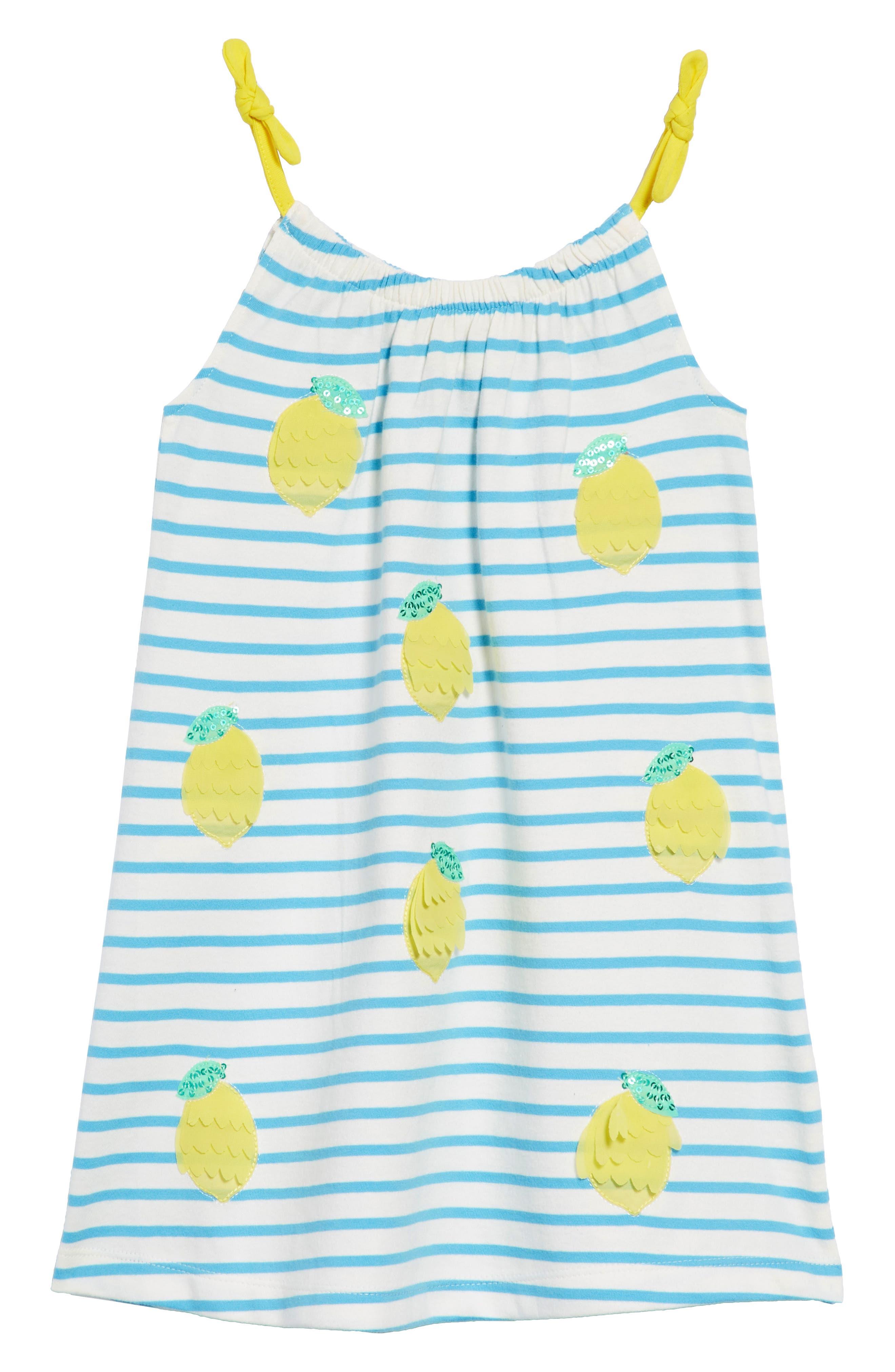 Jersey Sequin Sundress,                             Main thumbnail 1, color,                             Ivory/ Penzance Blue Nav