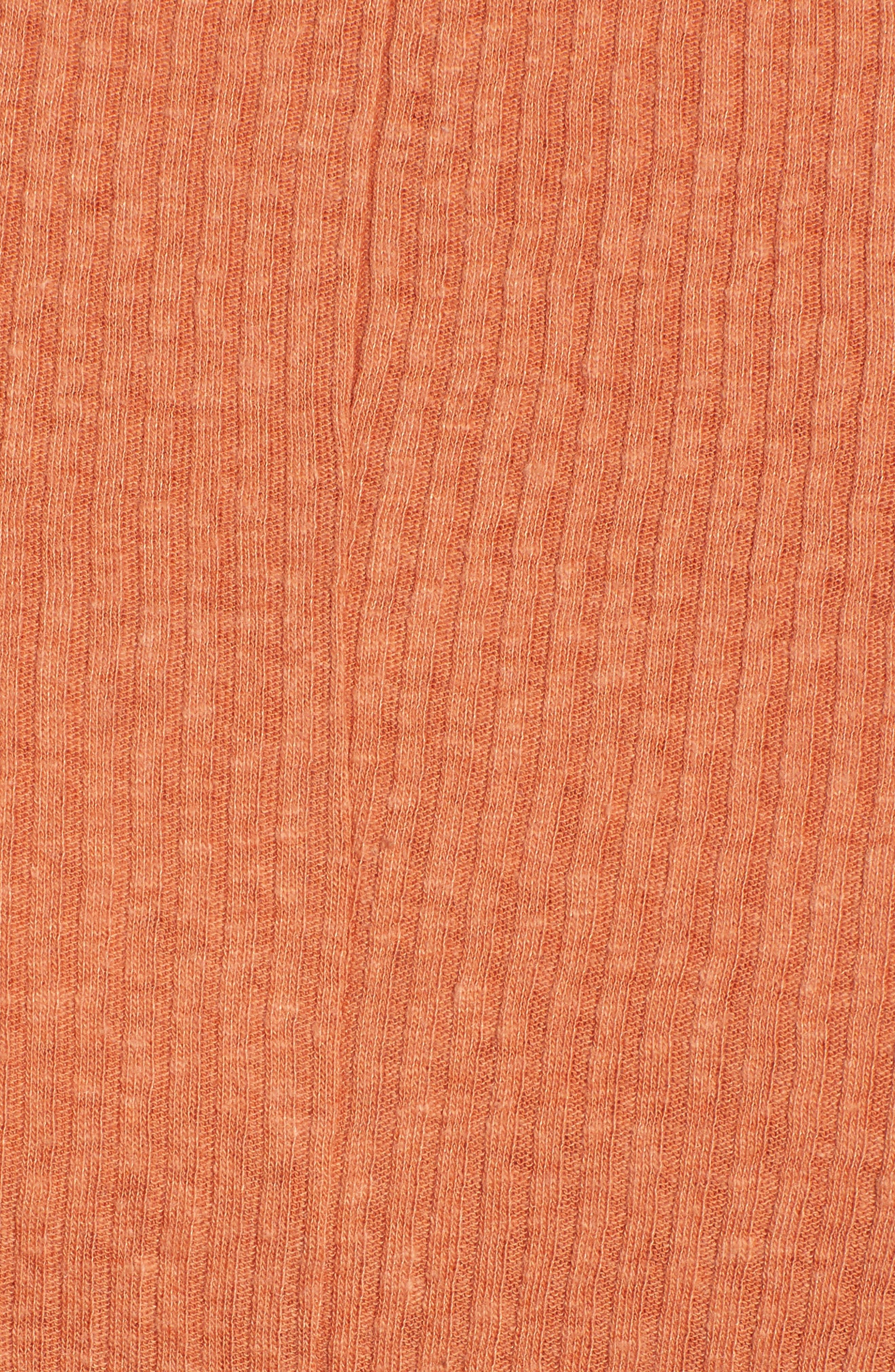 Twist Front Tee,                             Alternate thumbnail 5, color,                             Rust Leaf
