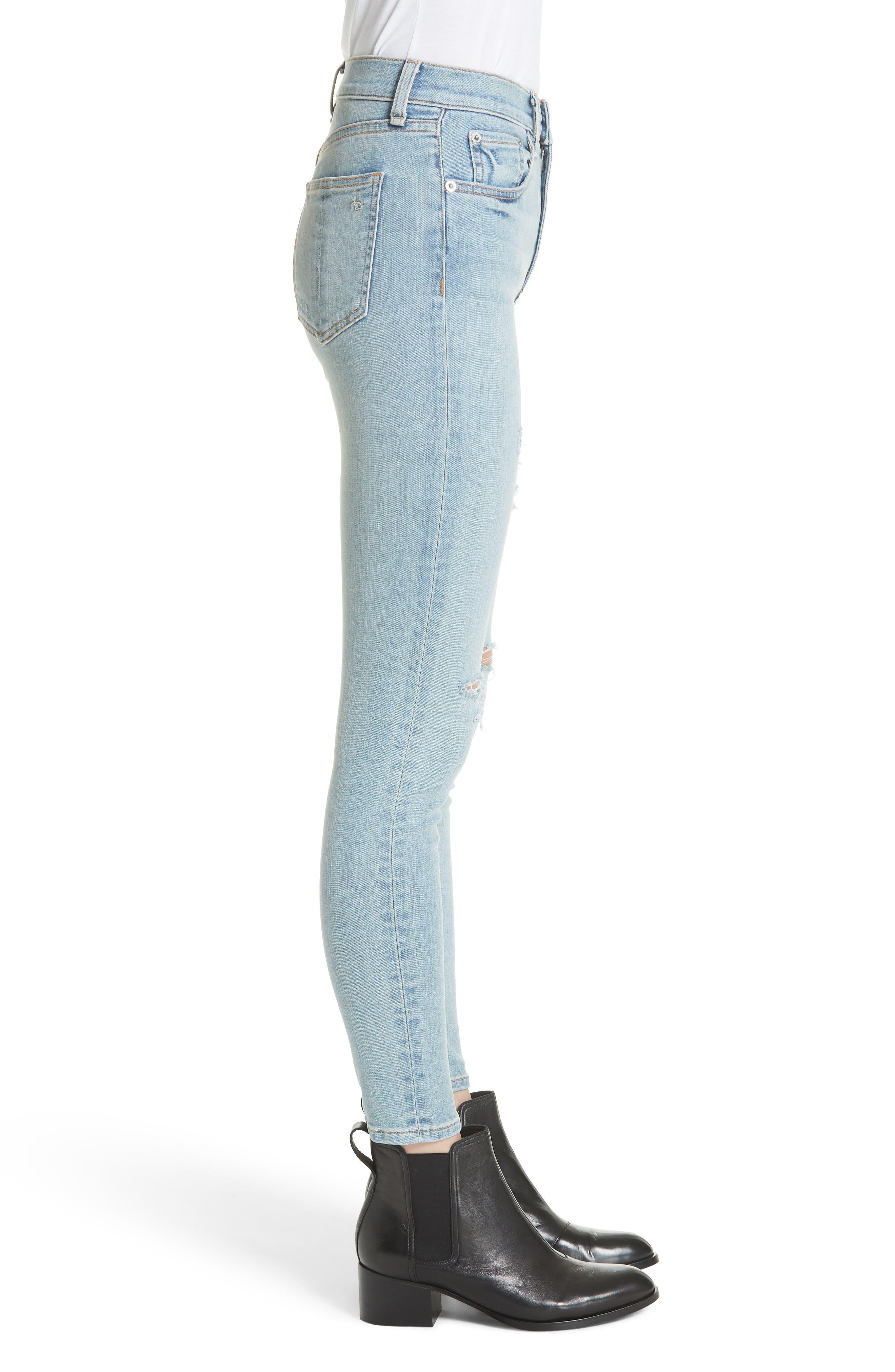 High Waist Ankle Skinny Jeans,                             Alternate thumbnail 3, color,                             Norlet