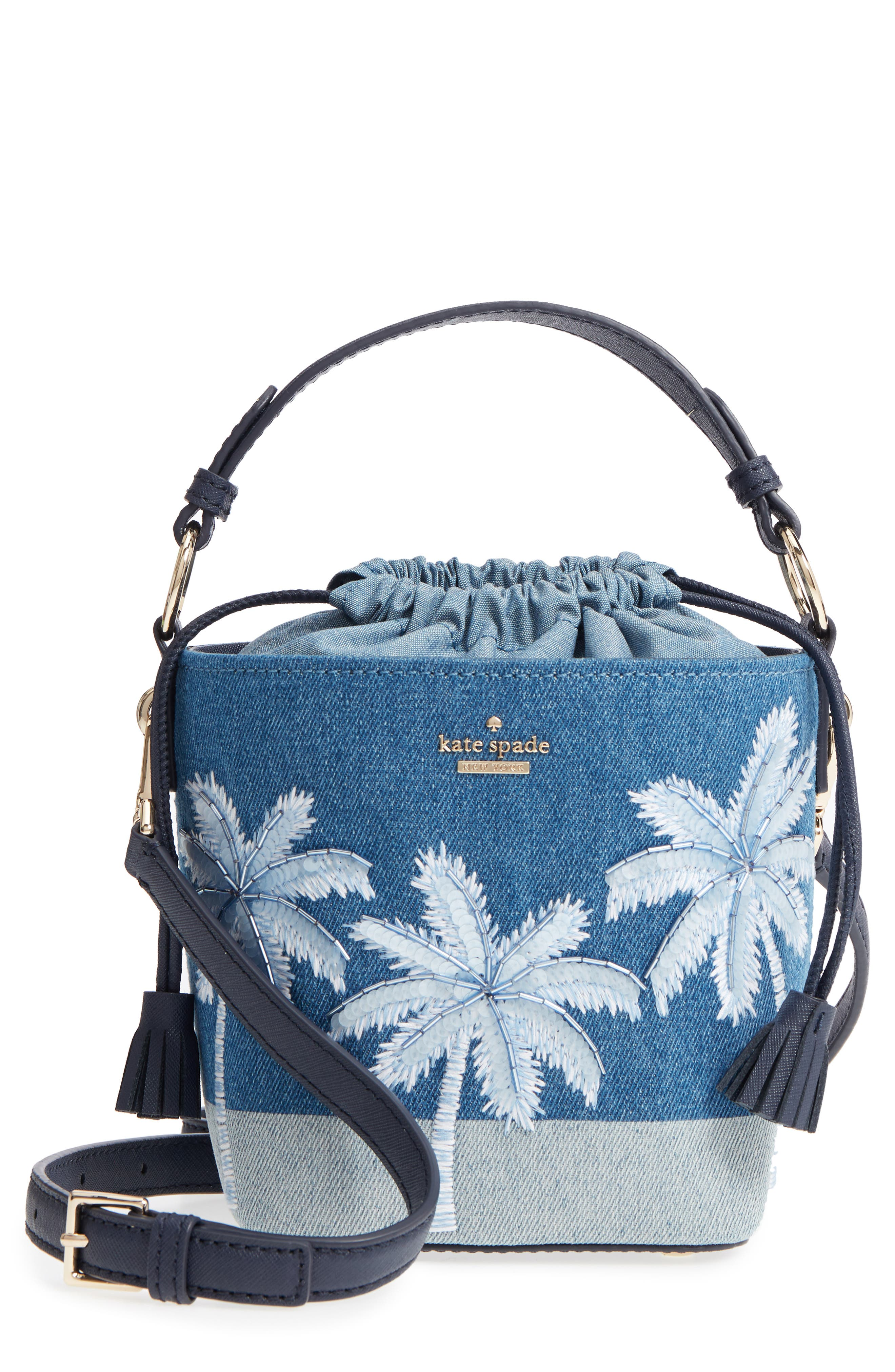 kate spade new york california dreaming - pippa denim bucket bag