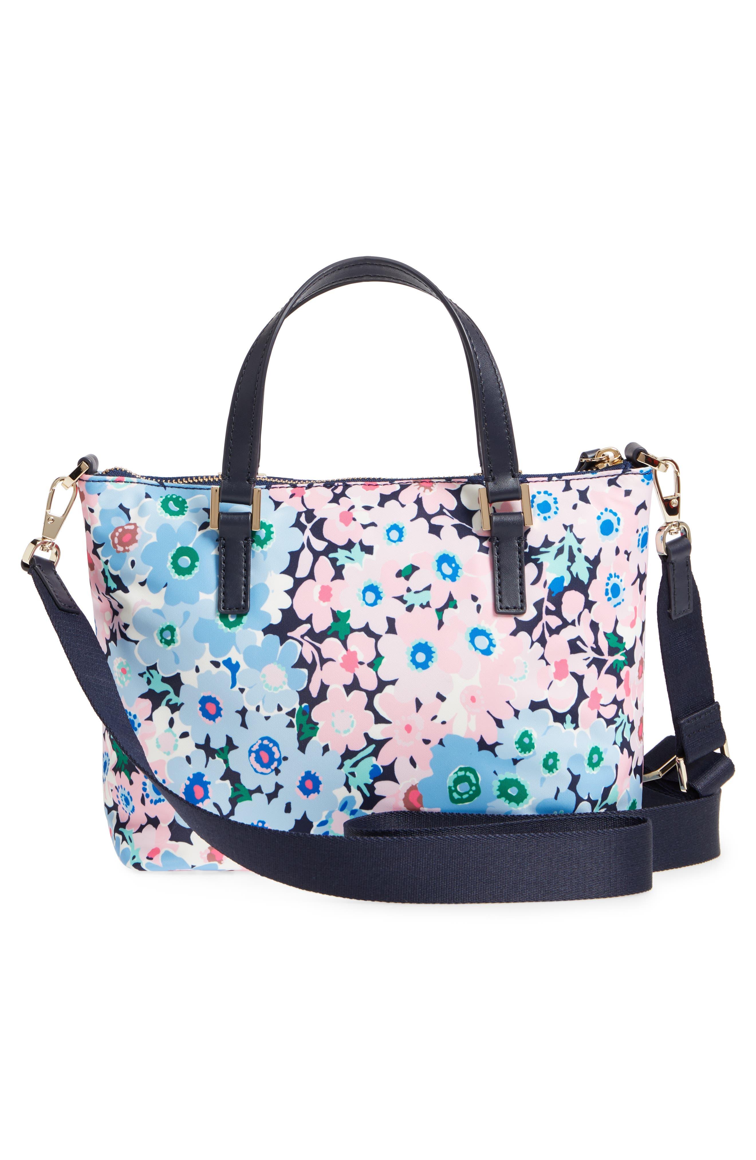 watson lane - daisy garden lucie crossbody bag,                             Alternate thumbnail 3, color,                             Blue Multi