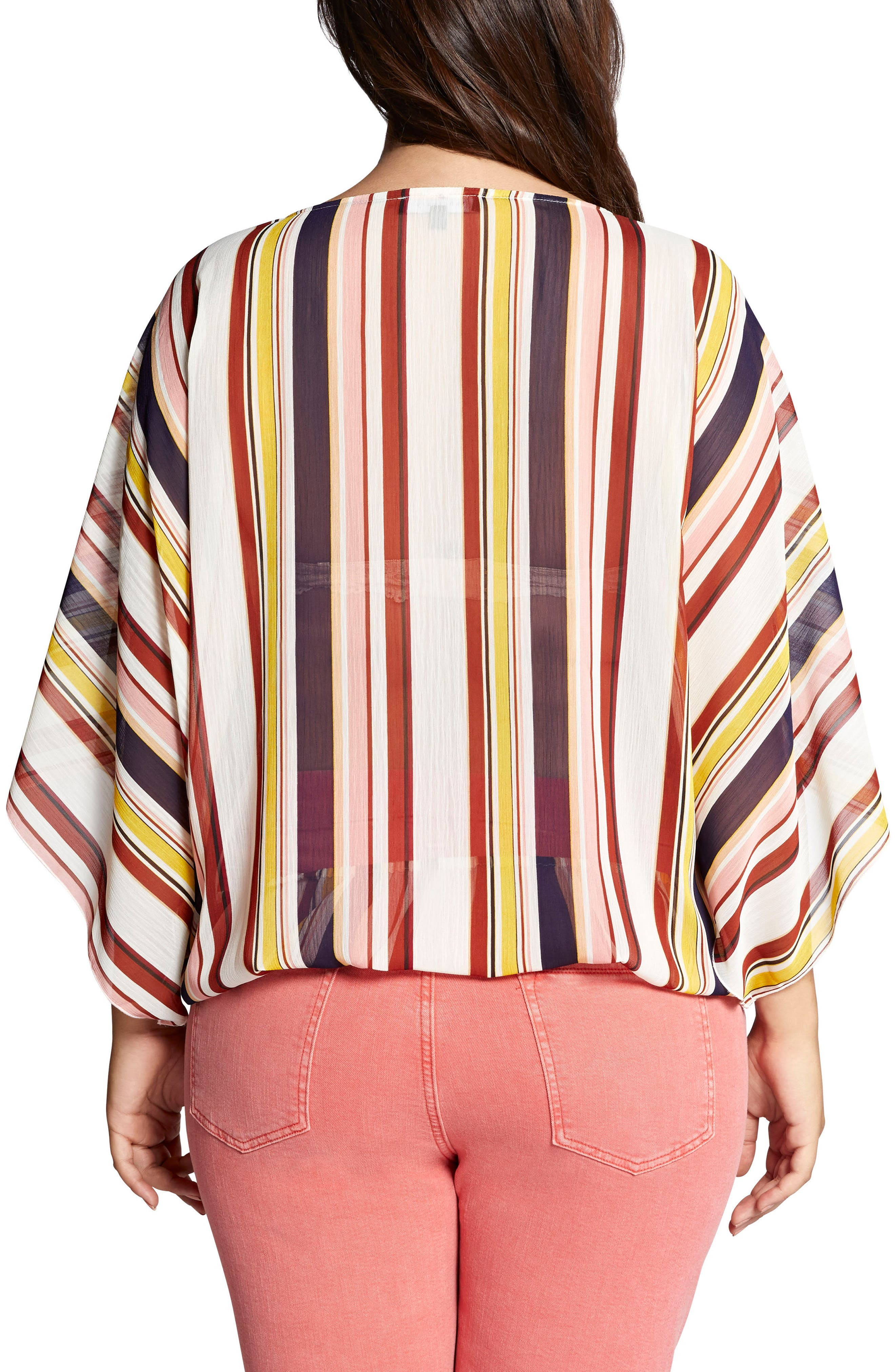 Poncho Top,                             Alternate thumbnail 2, color,                             Horizon Stripe