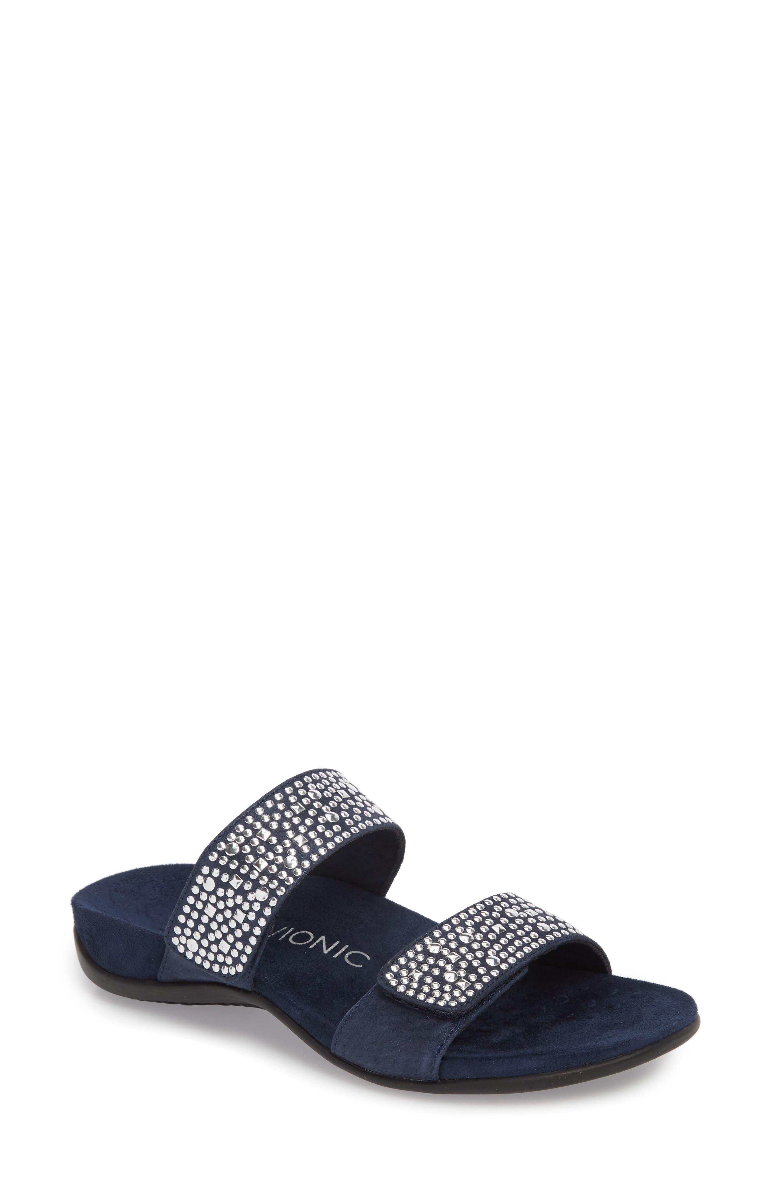 'Samoa' Sandal,                             Main thumbnail 1, color,                             Navy Suede