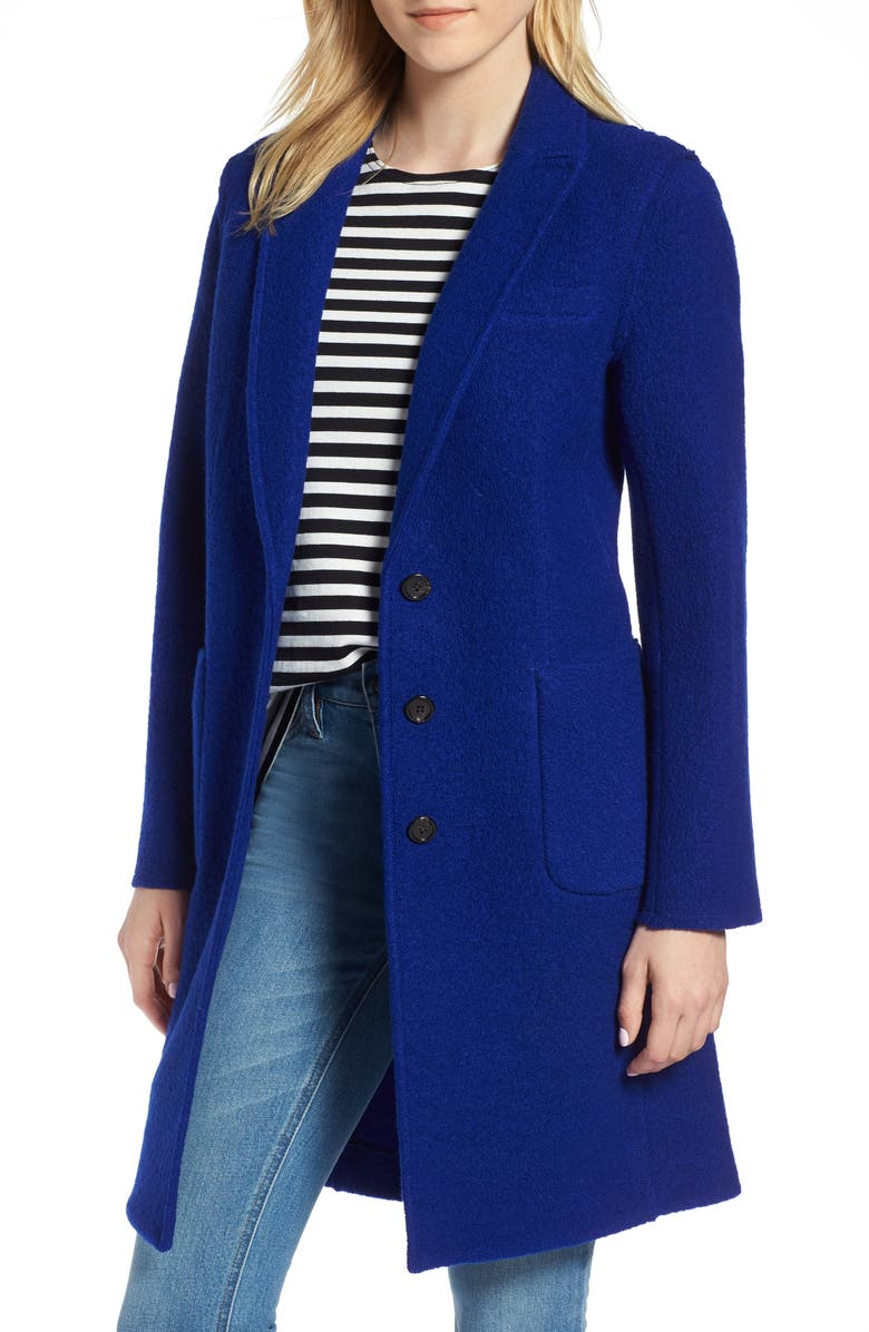 J.Crew Olga Boiled Wool Topcoat (Regular & Petite) | Nordstrom