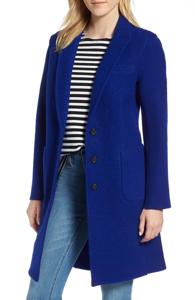 J.Crew Olga Boiled Wool Topcoat (Regular & Petite) | Nordstrom