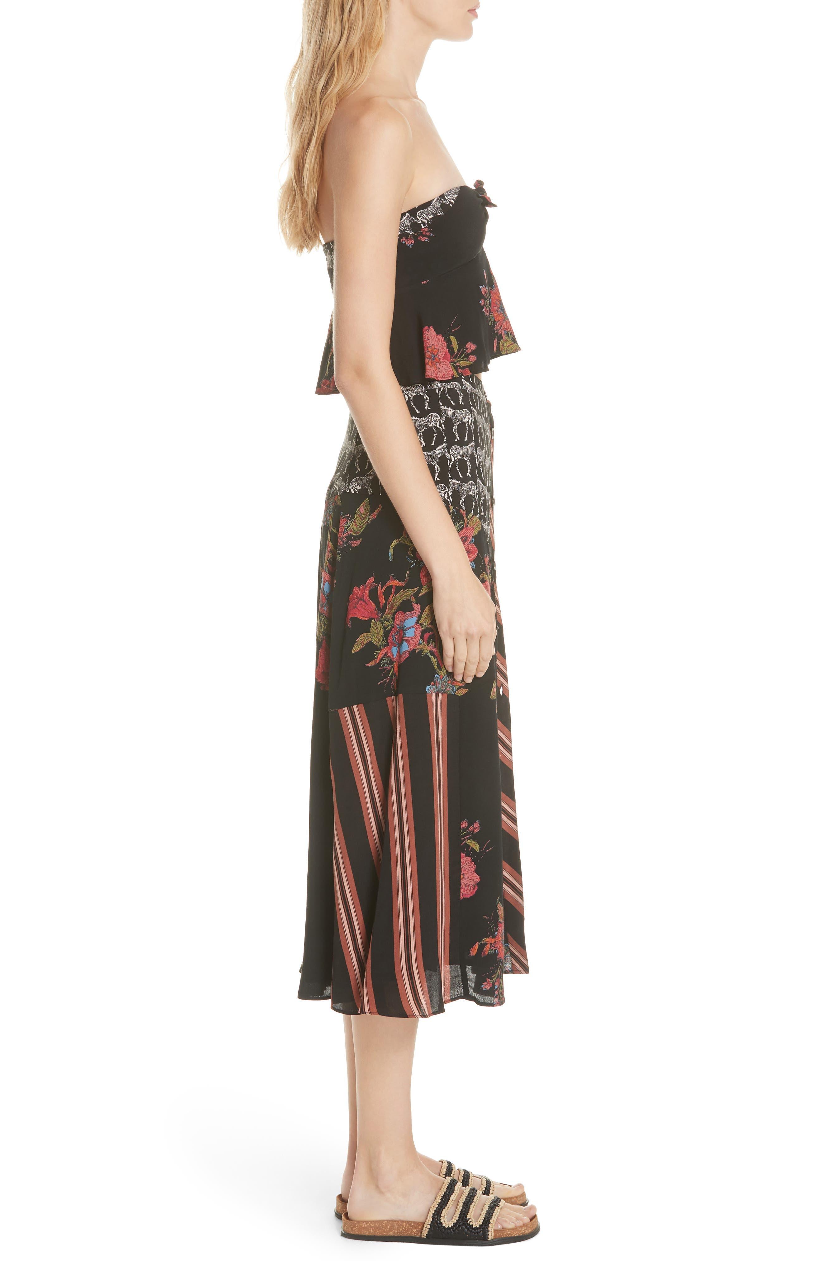 Sunshine Safari Top & Skirt,                             Alternate thumbnail 3, color,                             Black