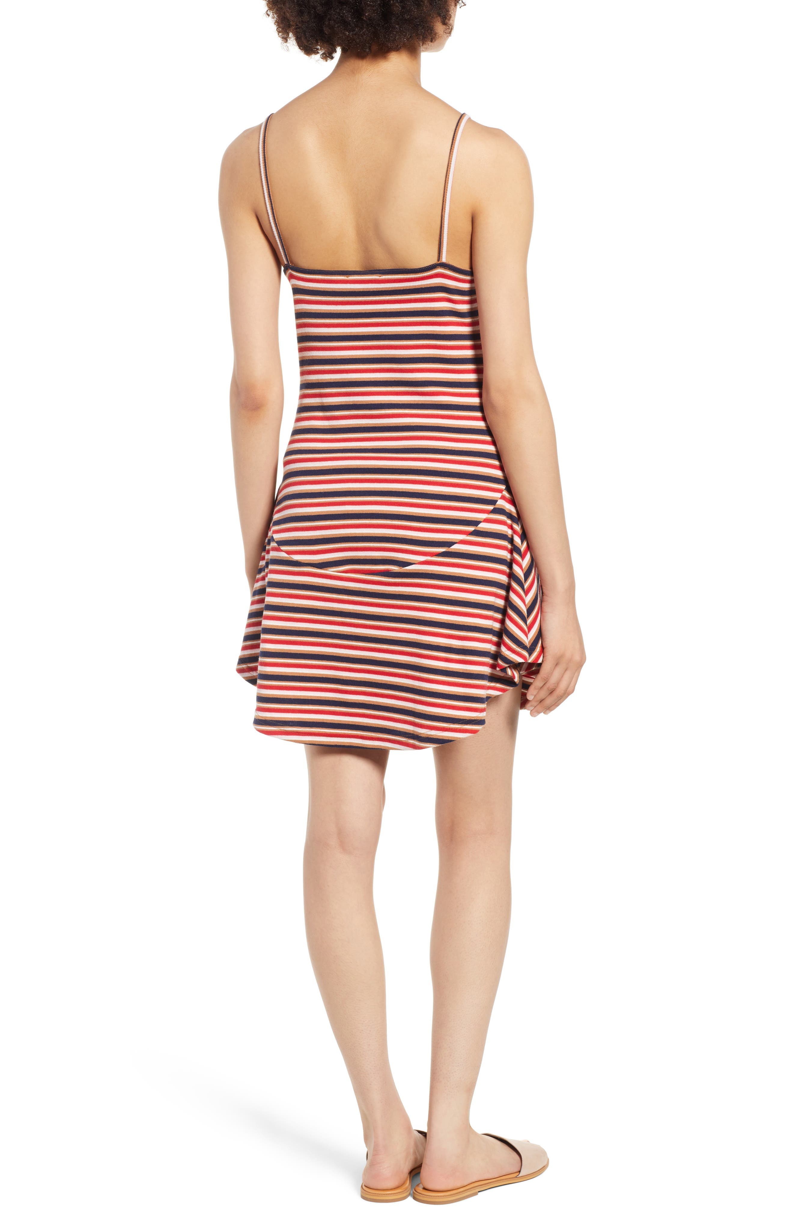 Parad Stripe Rib Knit Dress,                             Alternate thumbnail 3, color,                             Multi