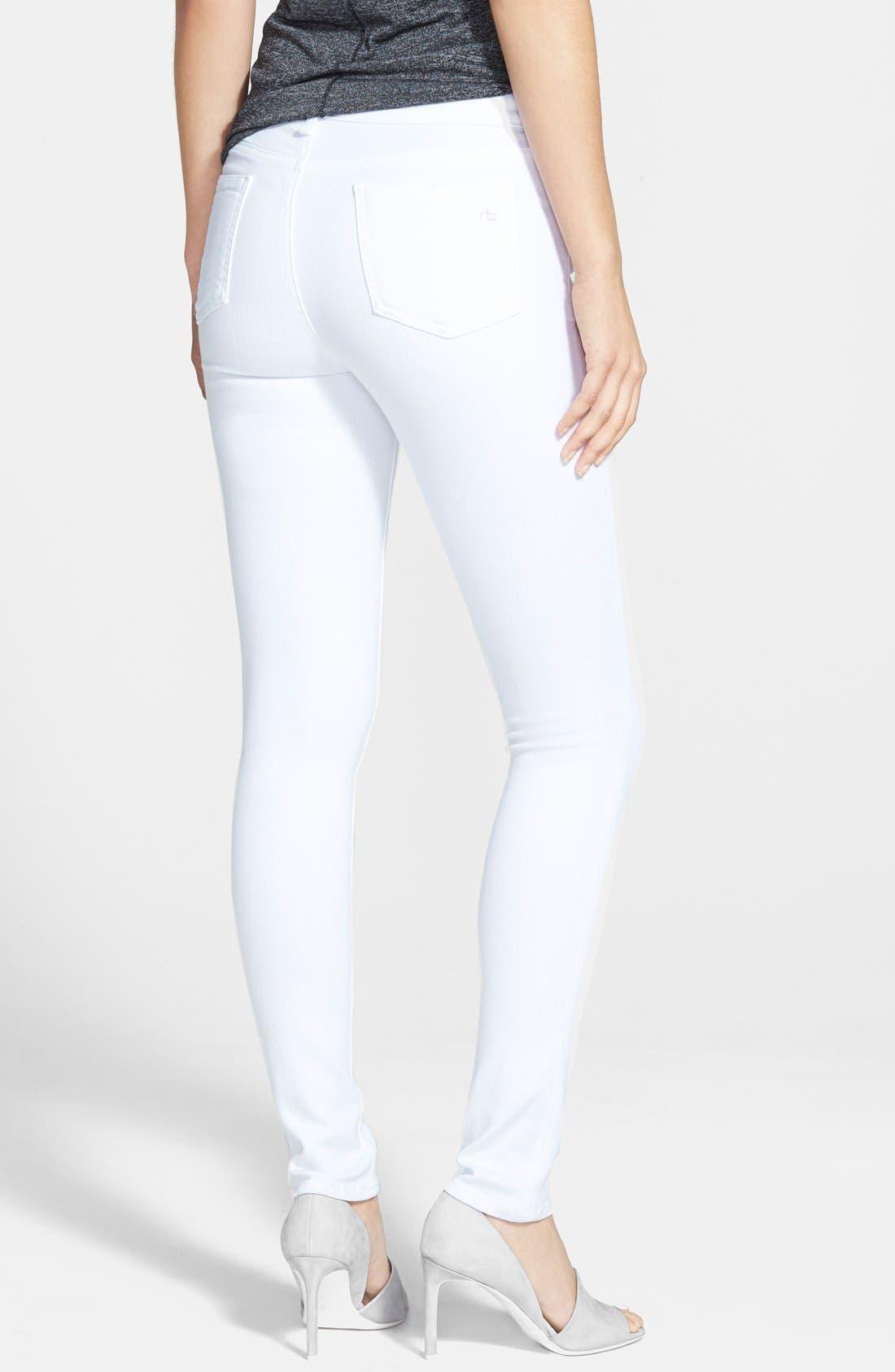'The Skinny' Jeans,                             Alternate thumbnail 2, color,                             Bright White