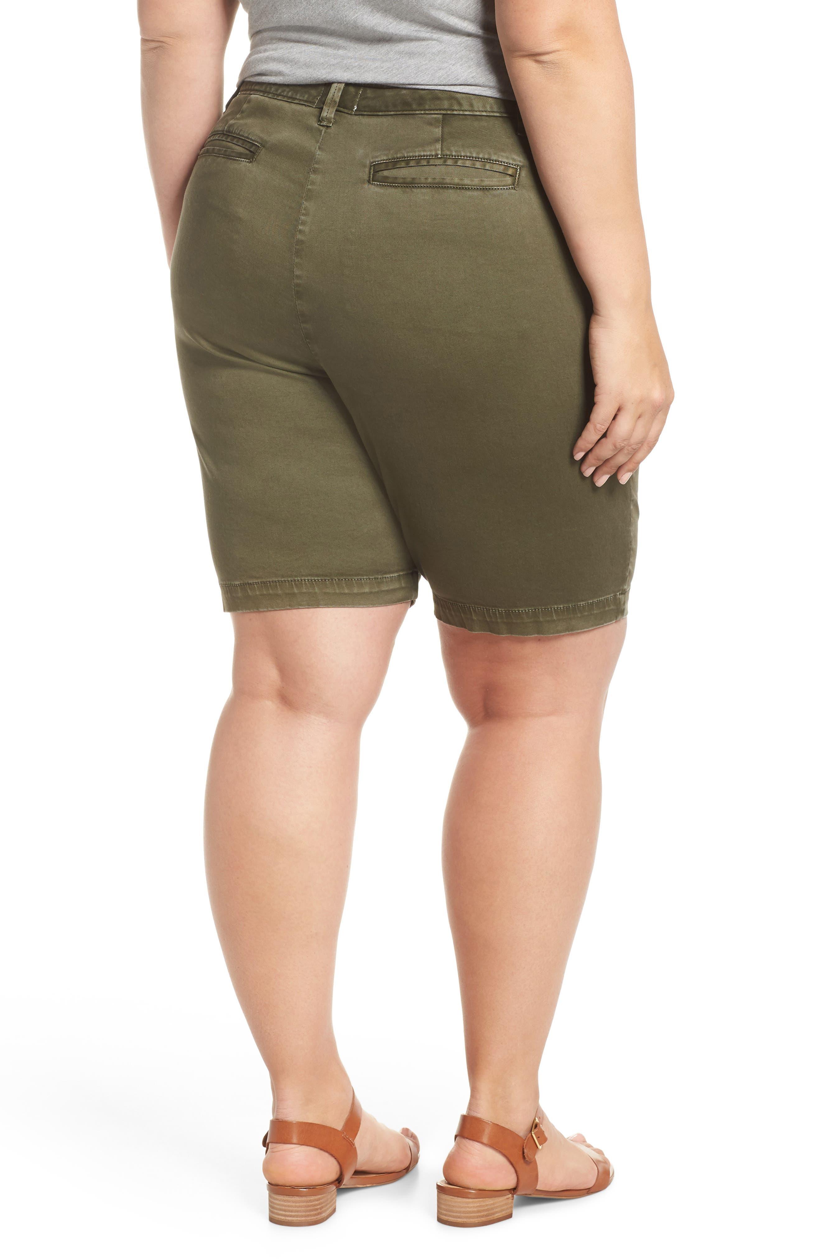 Twill Shorts,                             Alternate thumbnail 2, color,                             Olive Sarma