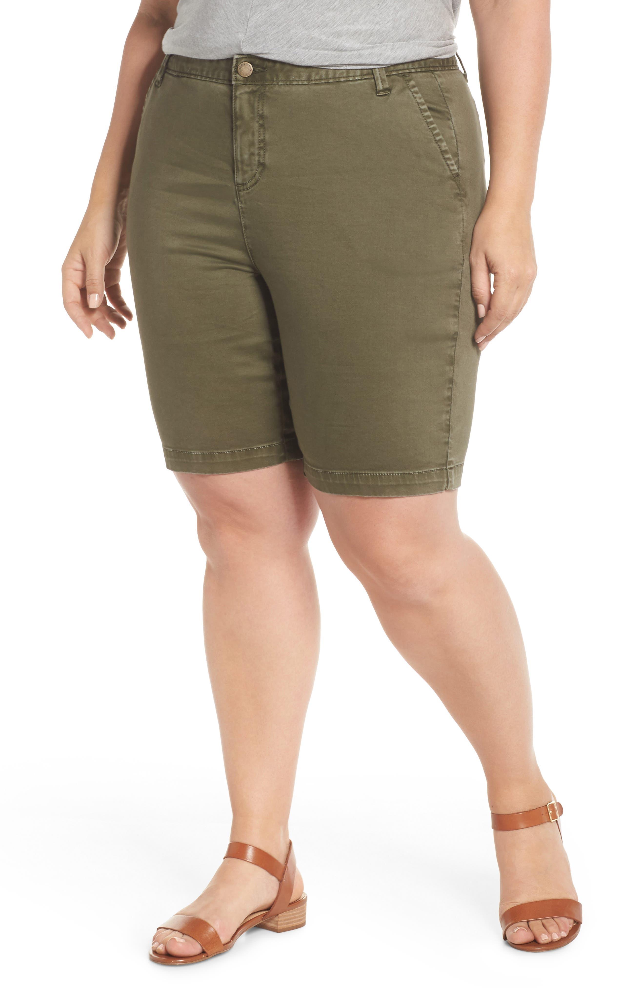 Twill Shorts,                         Main,                         color, Olive Sarma