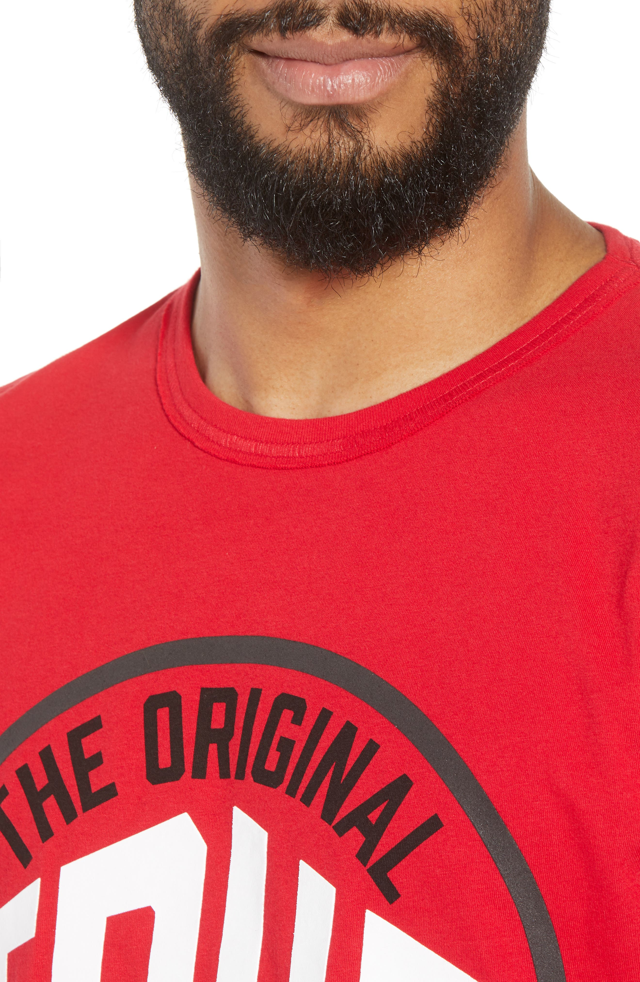 Outfield T-Shirt,                             Alternate thumbnail 4, color,                             True Red