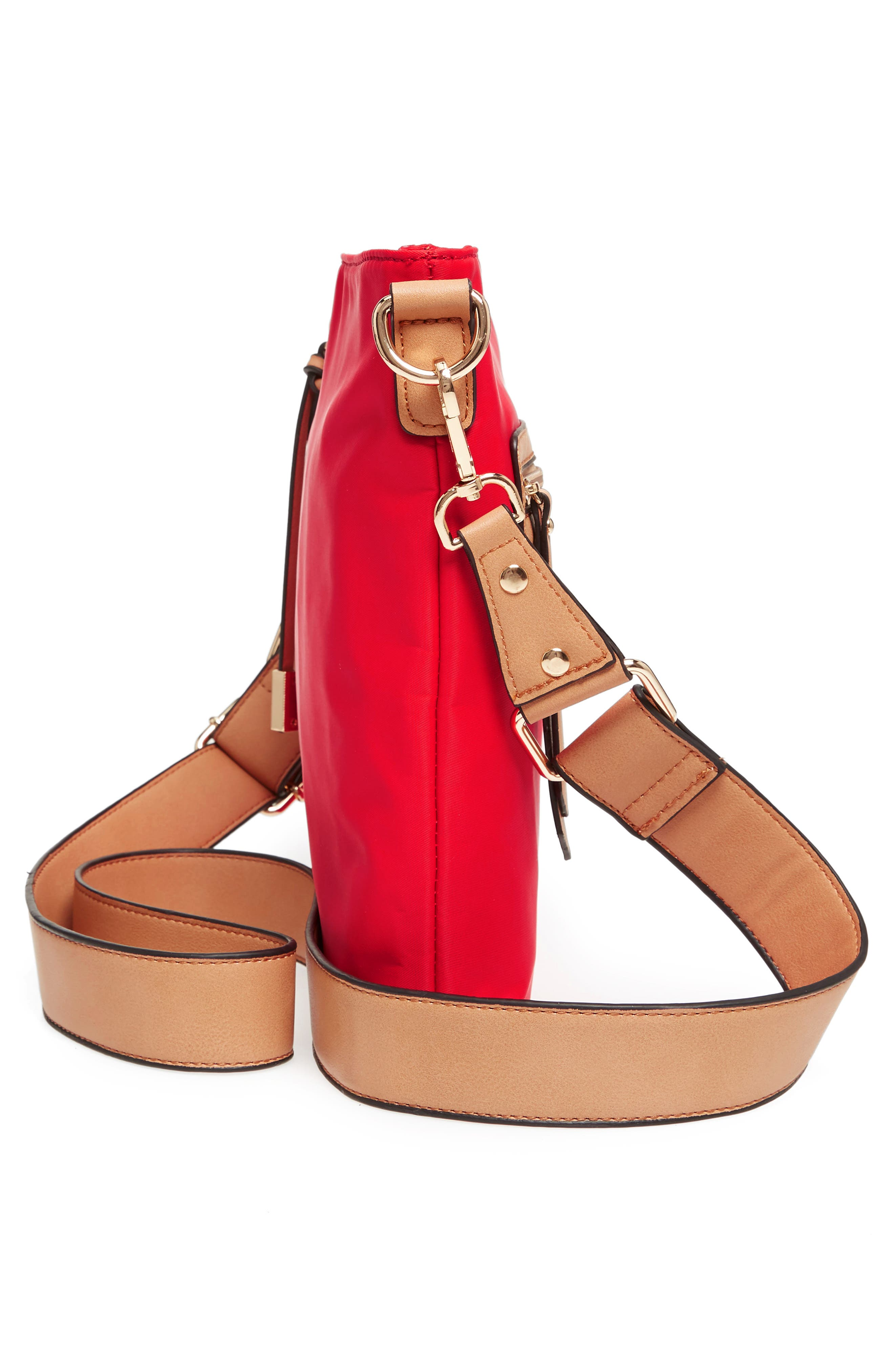 Guitar Strap Crossbody Bag,                             Alternate thumbnail 5, color,                             Red