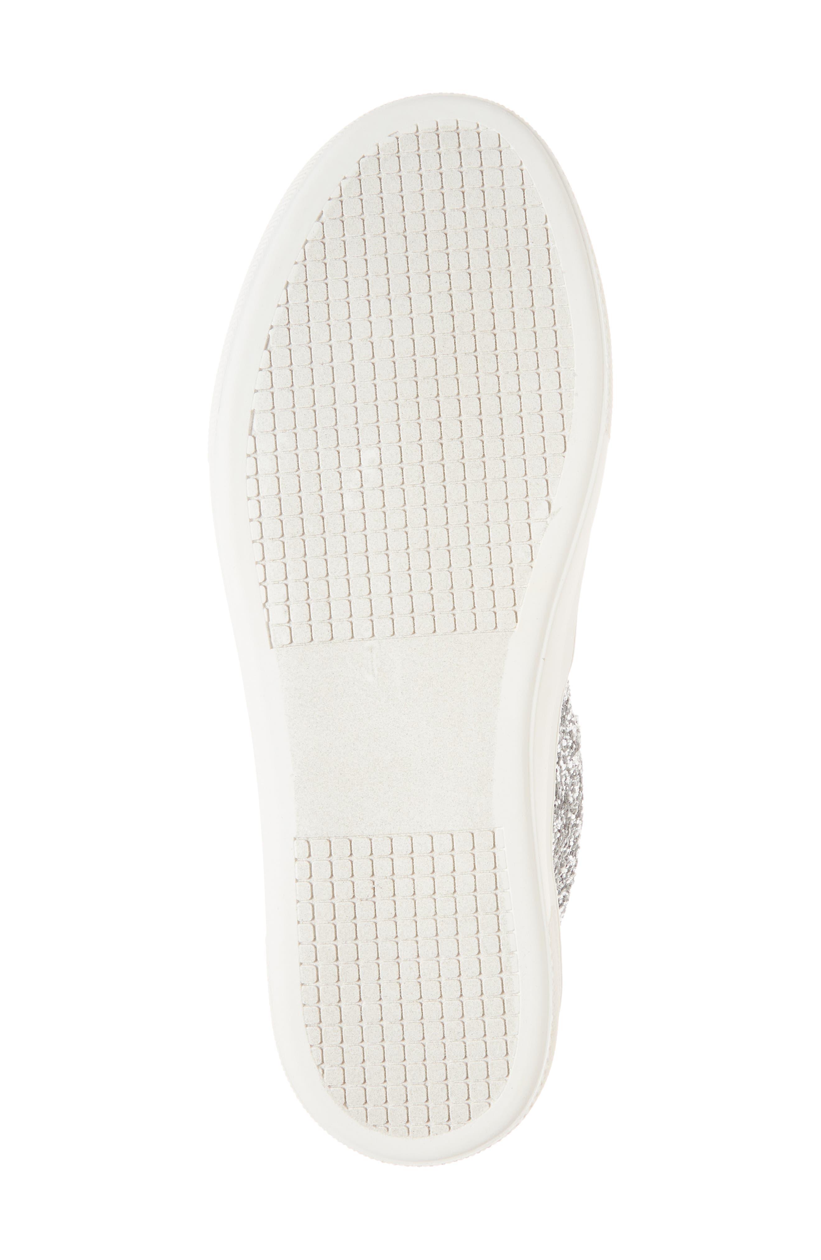 Gills Platform Slip-On Sneaker,                             Alternate thumbnail 6, color,                             Silver Glitter