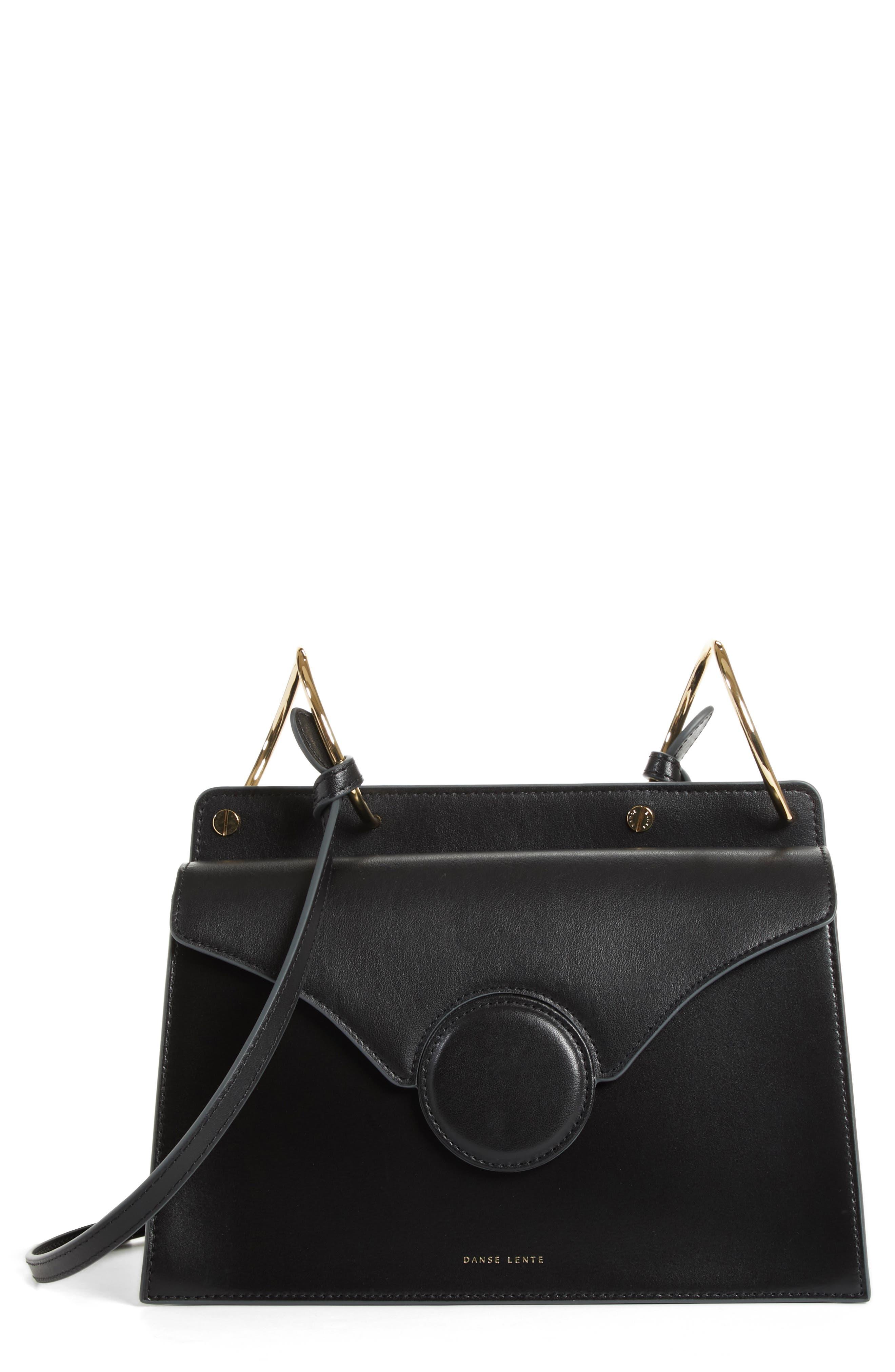 Phoebe Leather Crossbody Bag,                             Main thumbnail 1, color,                             Black