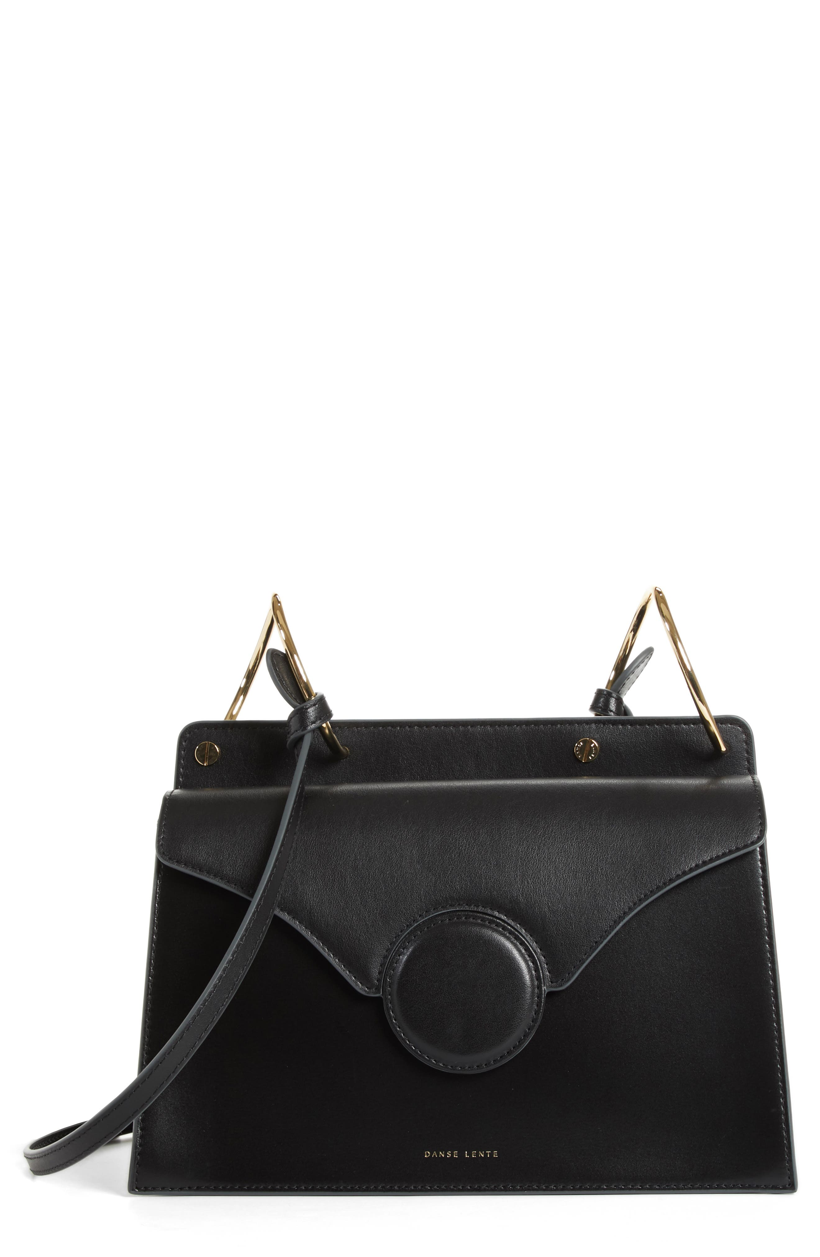 Phoebe Leather Crossbody Bag,                         Main,                         color, Black