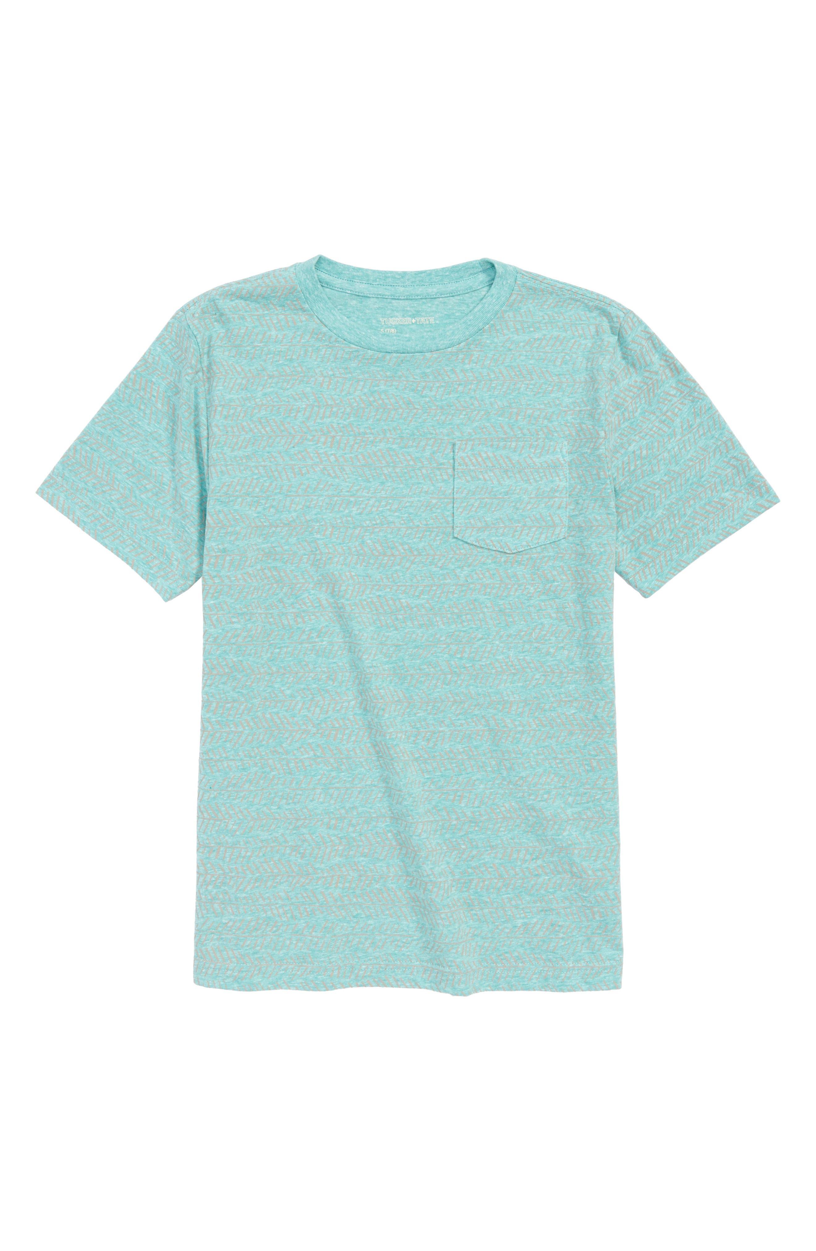 Tropical T-Shirt,                         Main,                         color, Green Lake Zig Zag