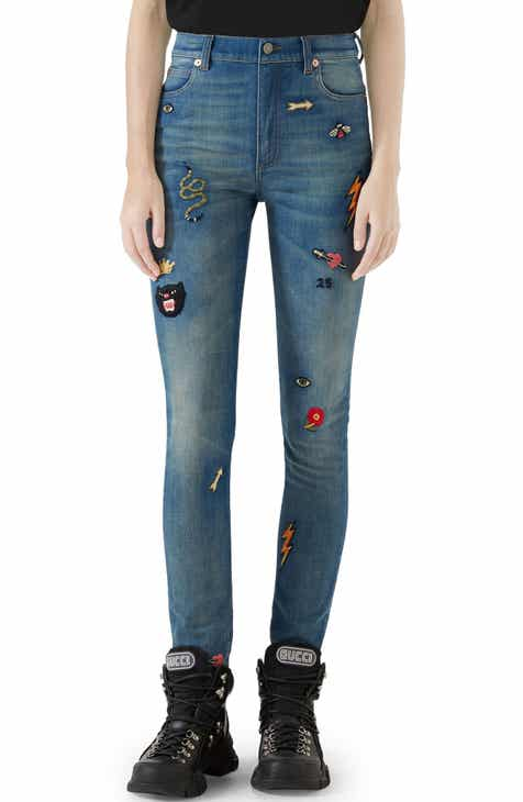 Gucci Patch Embellished Skinny Jeans a85448fe90