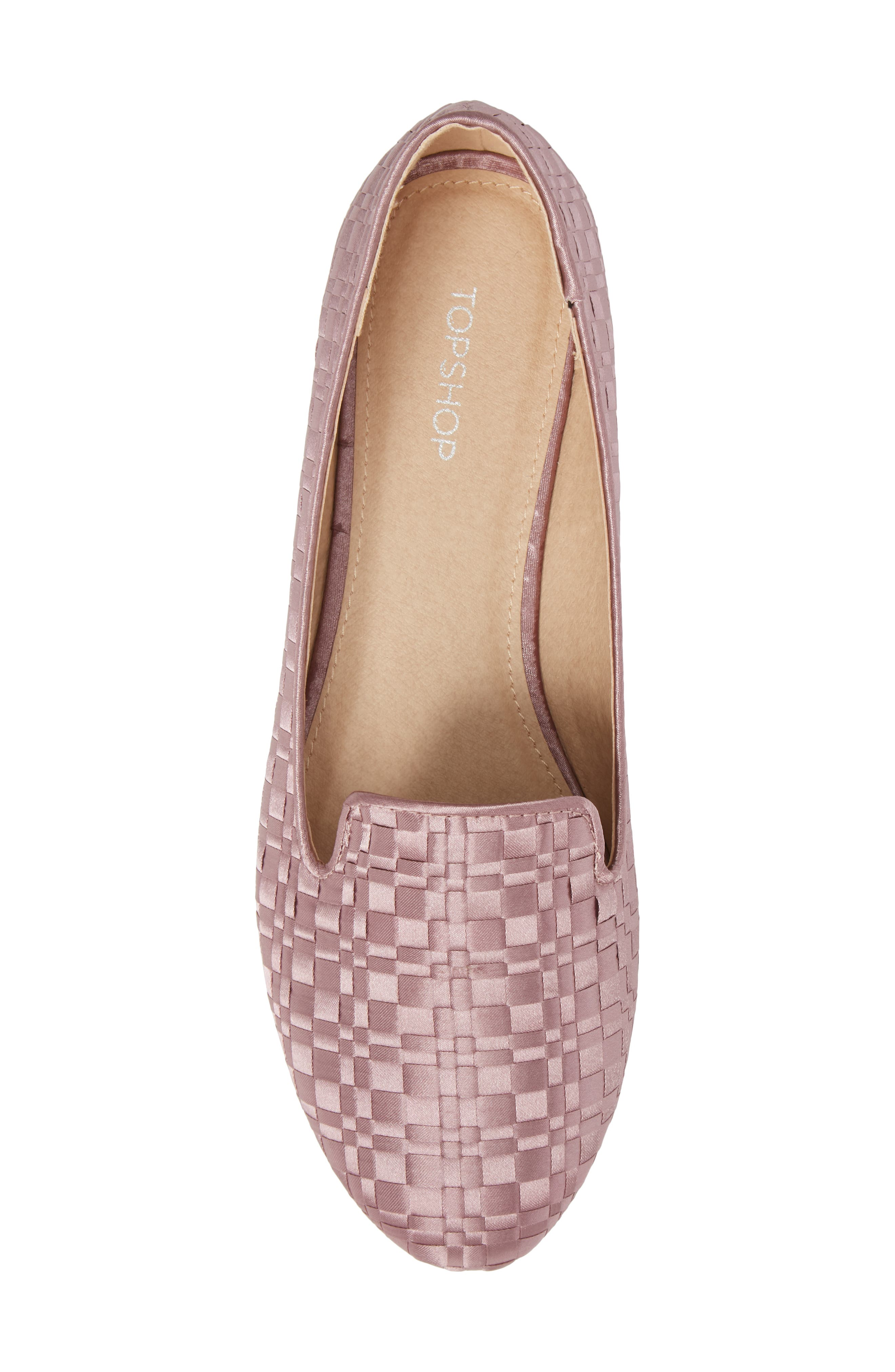 Sasha Textured Woven Loafer,                             Alternate thumbnail 5, color,                             Pink