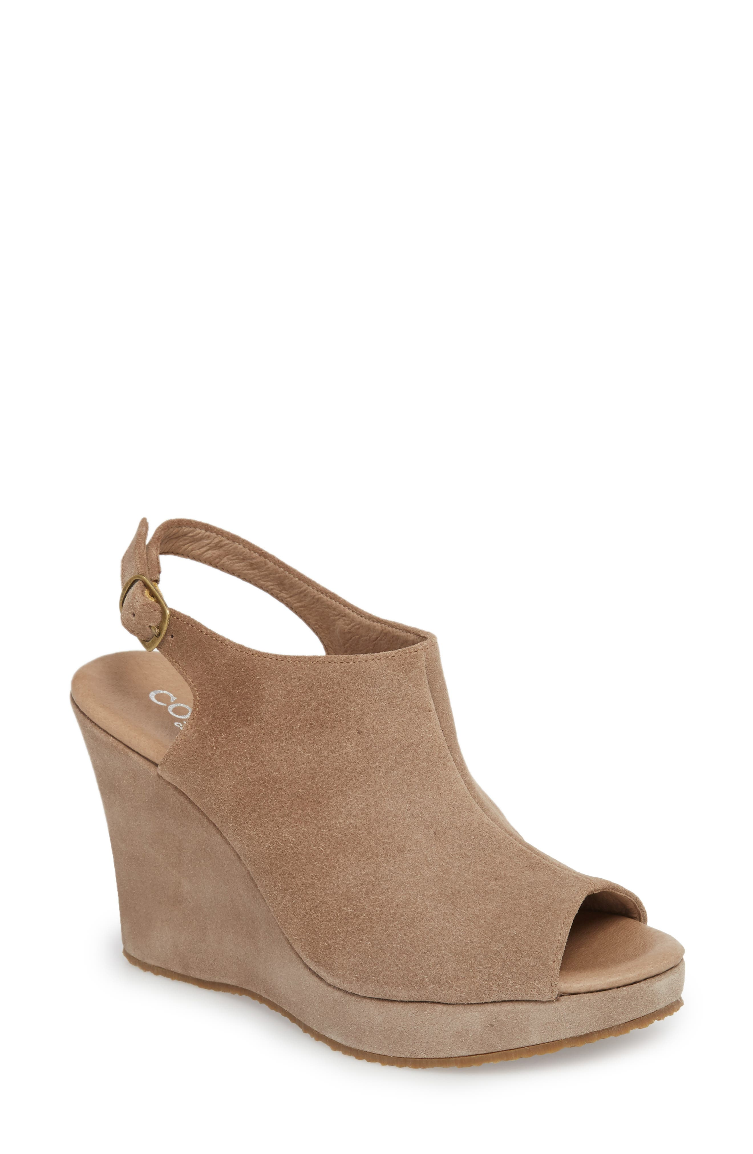'Wellesley' Sandal,                             Main thumbnail 1, color,                             Taupe Suede