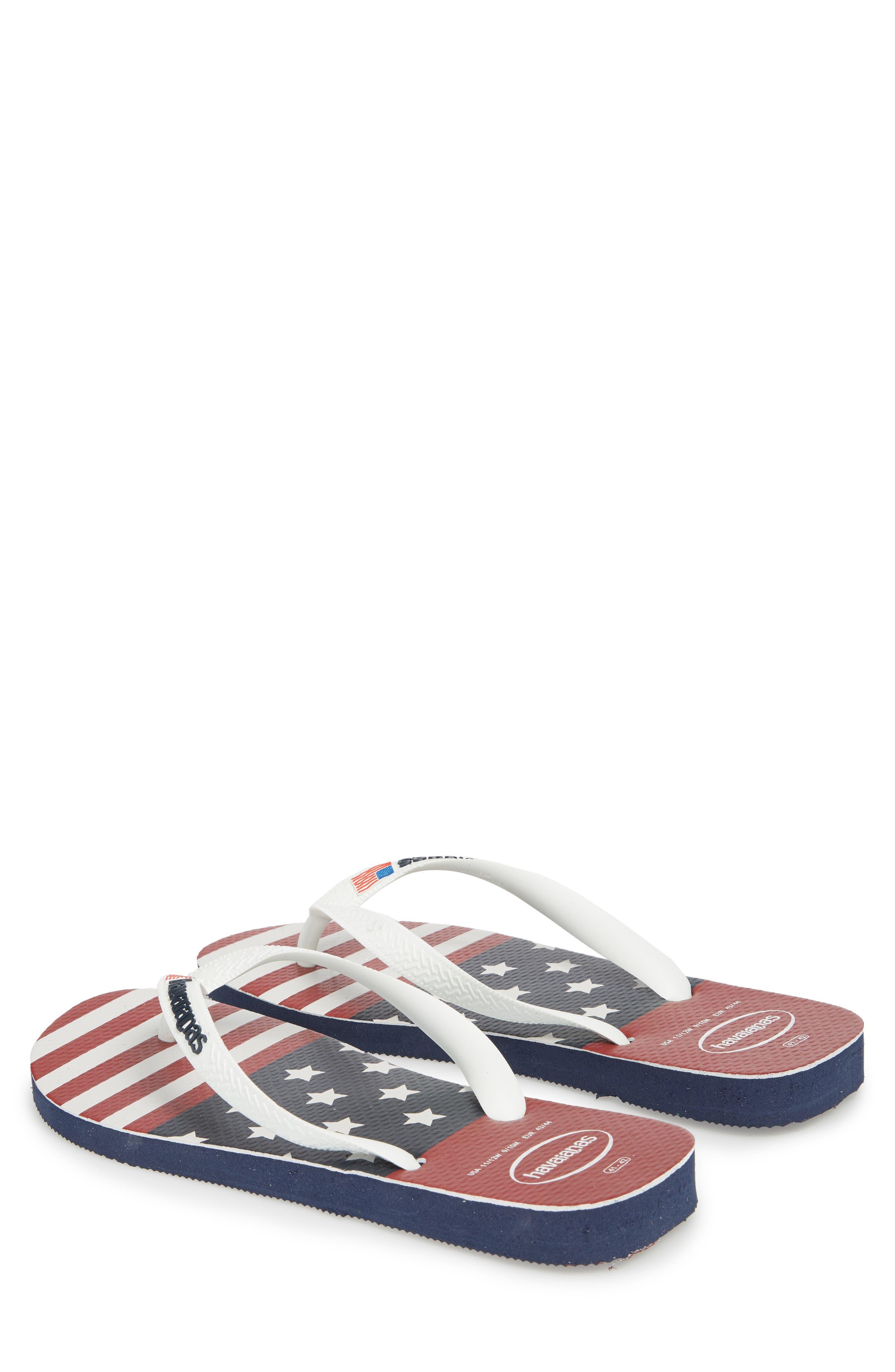 USA Stars & Stripes Flip Flop,                             Alternate thumbnail 3, color,                             Navy Blue
