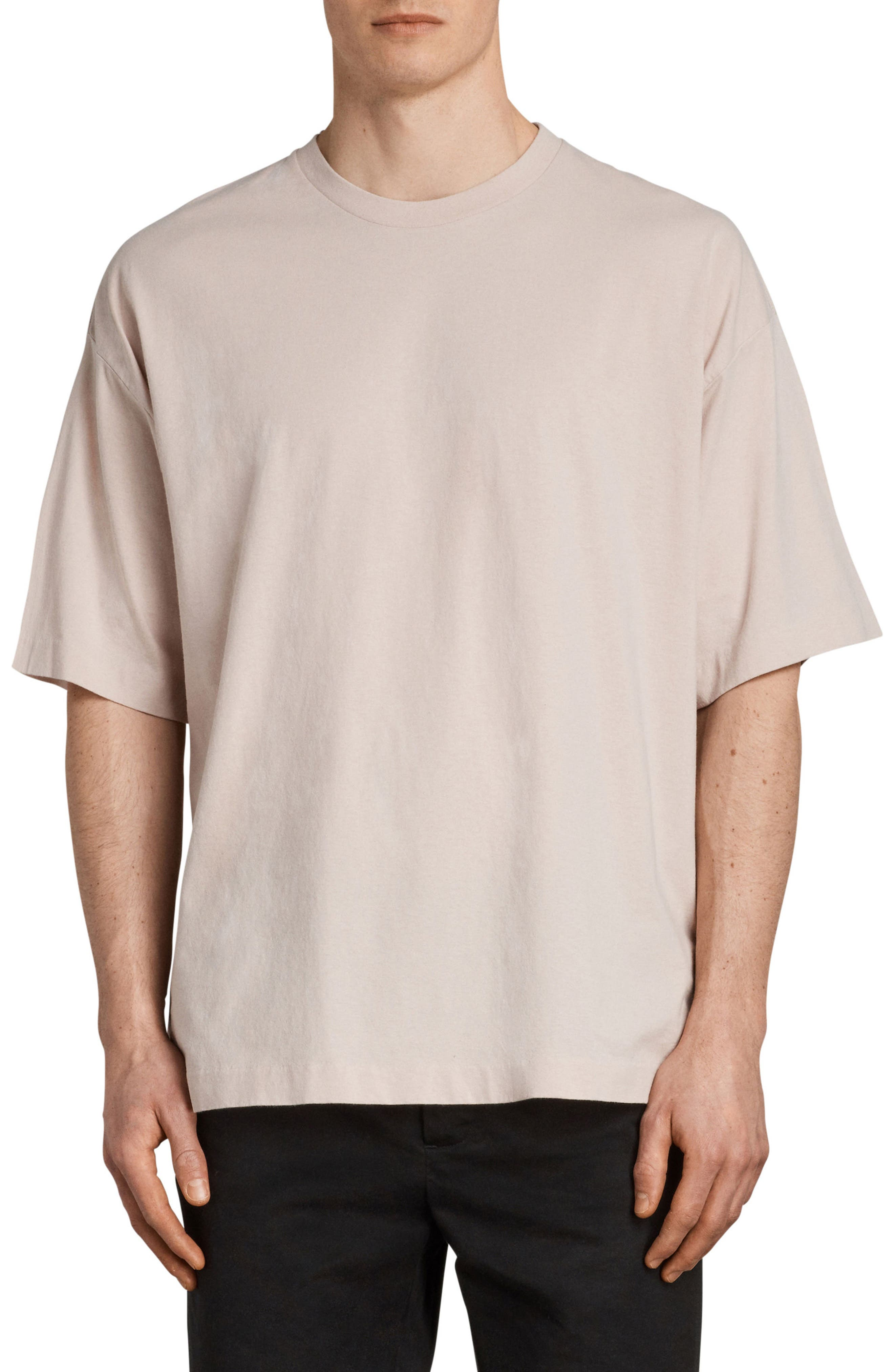 Atnom Crewneck T-Shirt,                             Main thumbnail 1, color,                             River Pink